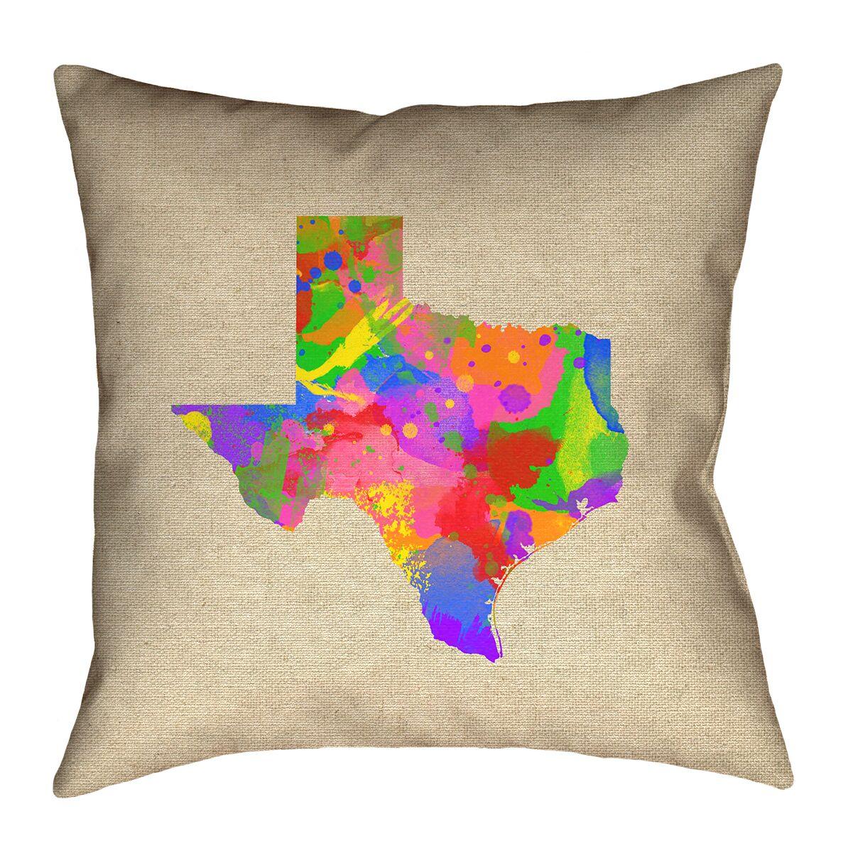 Sherilyn Texas Double Sided Print Floor Pillow Size: 36