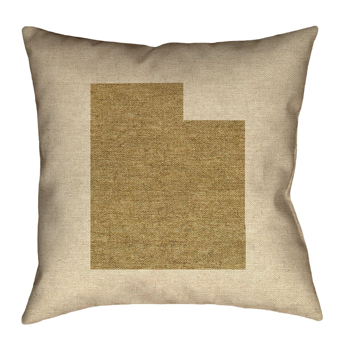 Sherilyn Utah Double Sided Print Floor Pillow Color: Brown, Size: 18