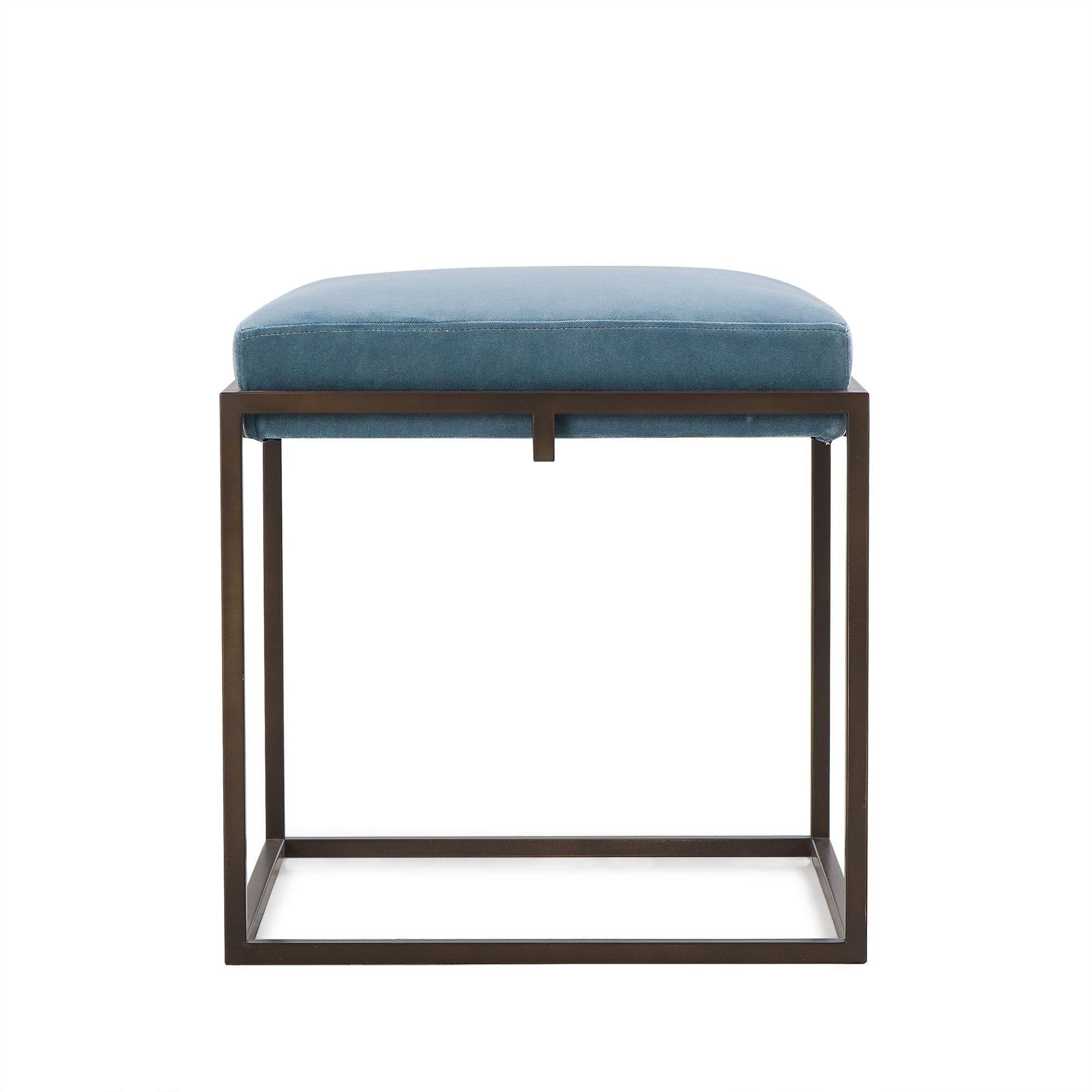 Braxton Cube Ottoman Upholstery: Fabric Neighbor Indigo