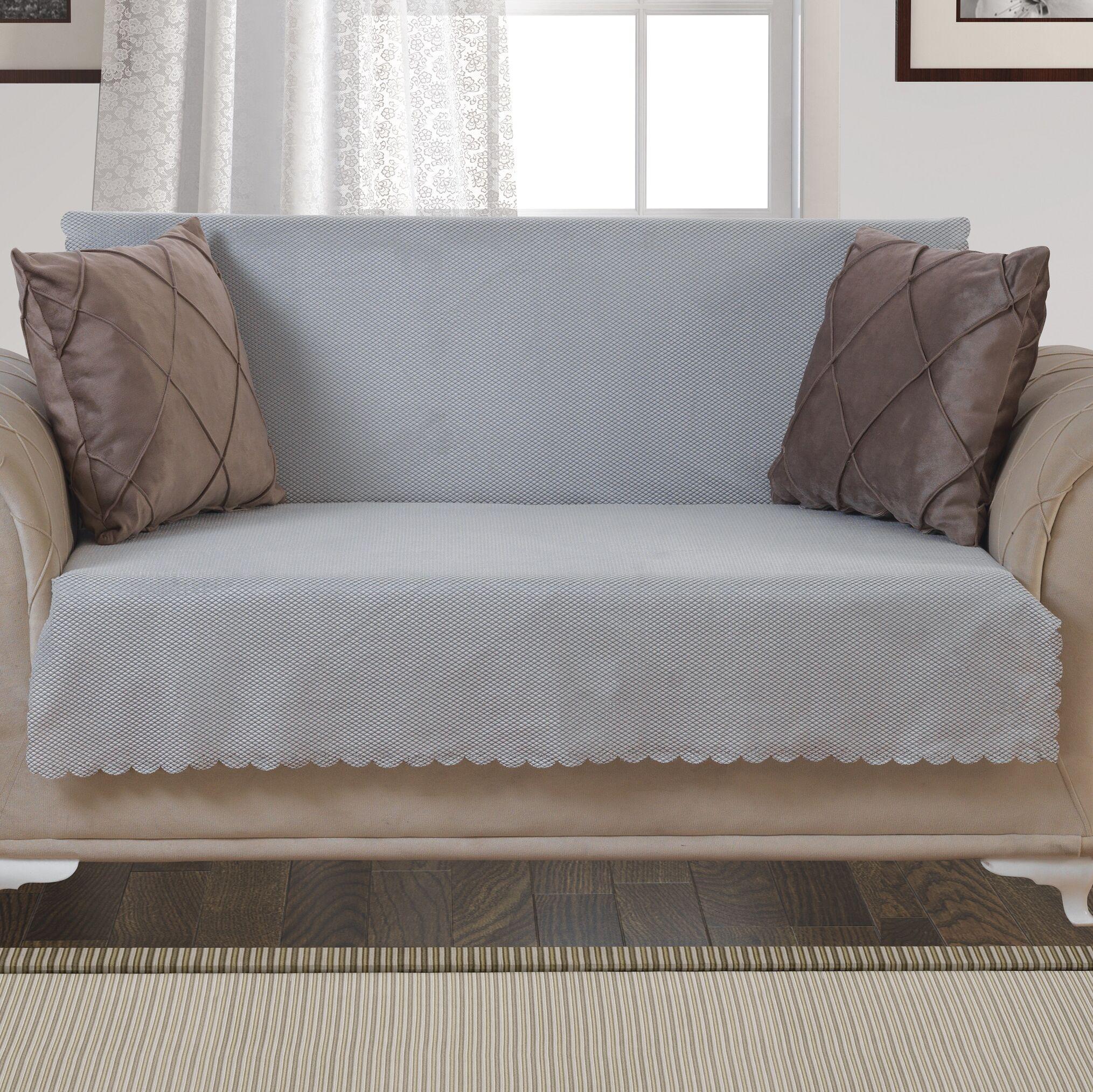 Pet Protector T-Cushion Loveseat Slipcover Upholstery: Light Gray
