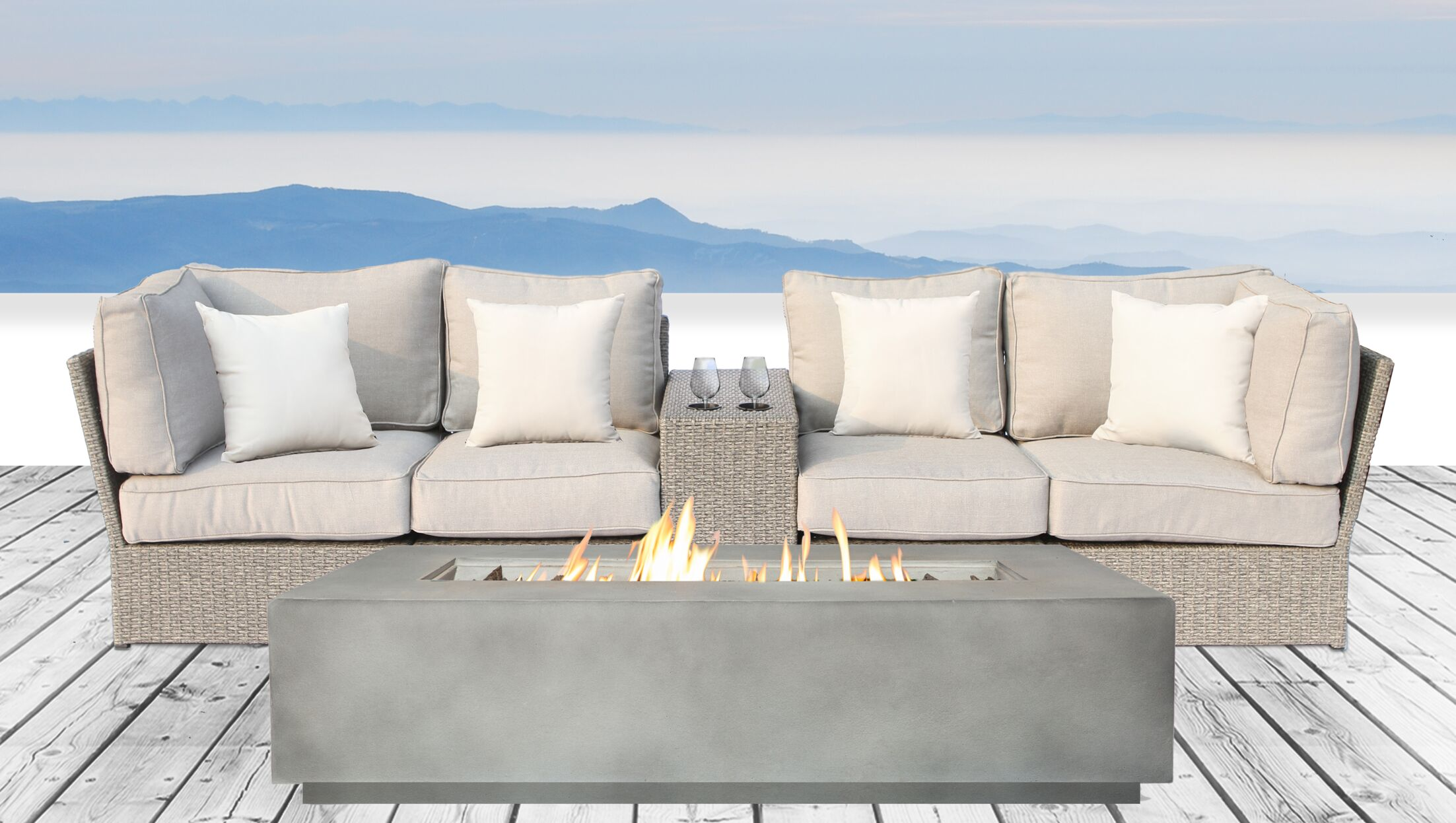 Winsford 6 Piece Sofa Set with Cushions