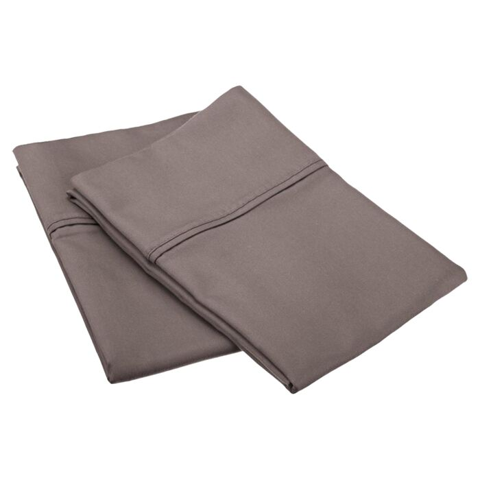 Emerson Cotton Rich 800 Thread Count Solid Pillowcase Color: Grey, Size: King