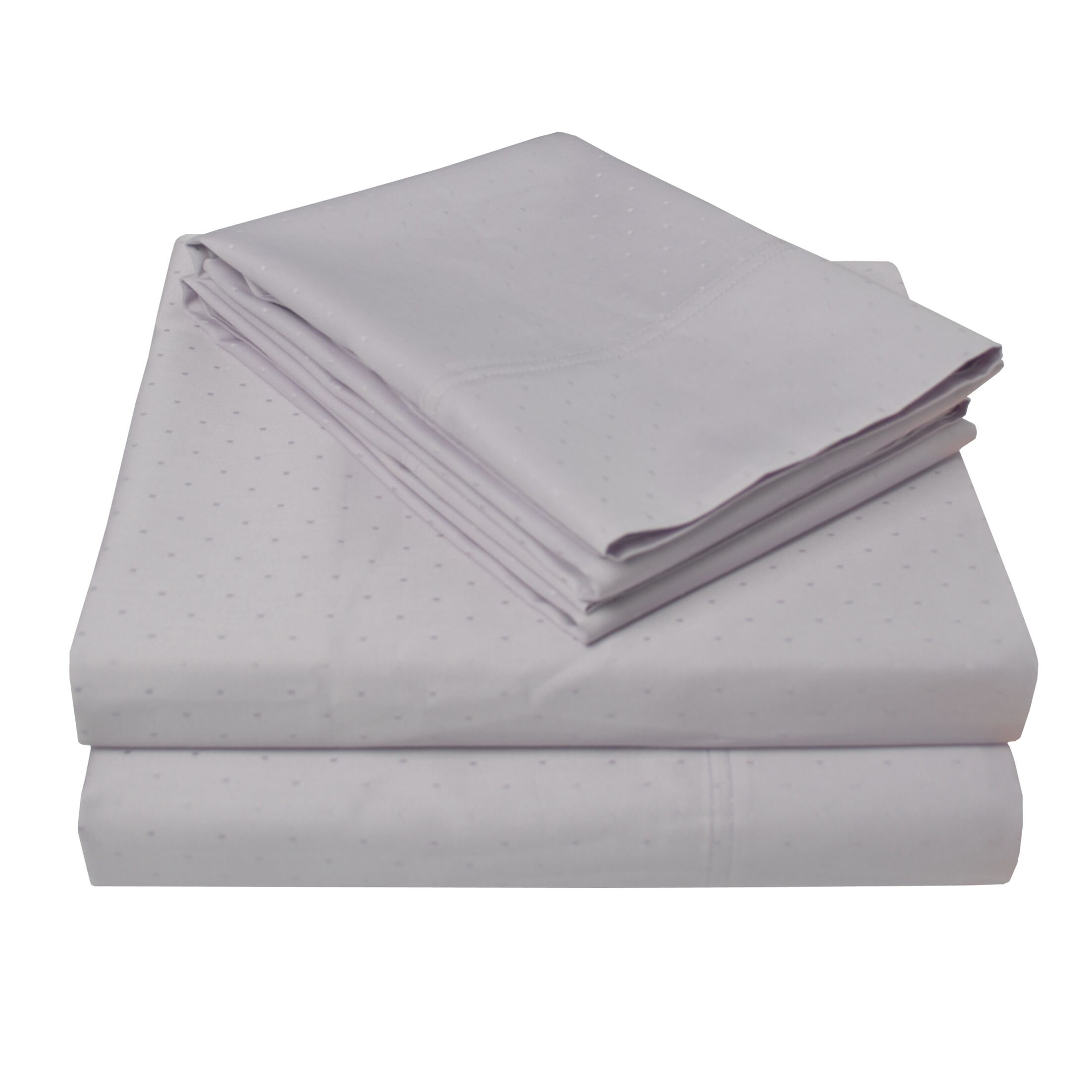 4 Piece 400 Thread Count 100% Cotton Sheet Set Color: Lilac, Size: California King
