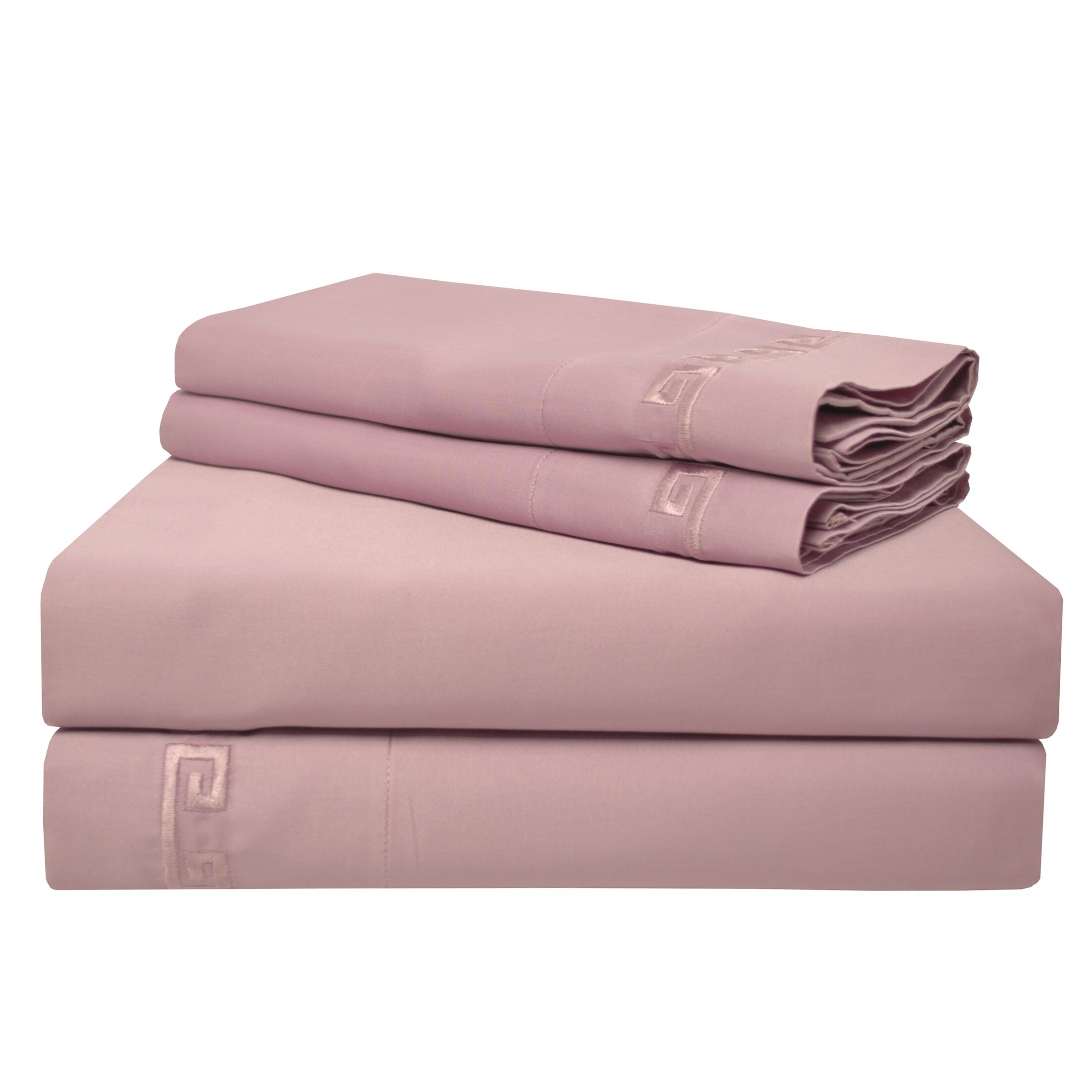 Premium 600 Thread Count Egyptian Quality Cotton Sheet Set Color: Lavender, Size: Queen