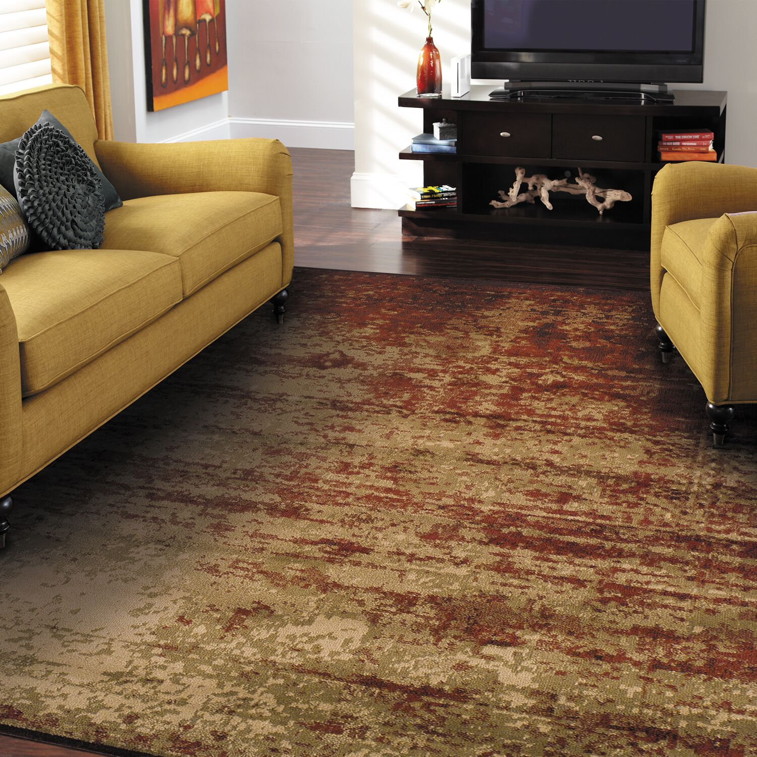 York Red Area Rug Rug Size: Rectangle 5' x 8'