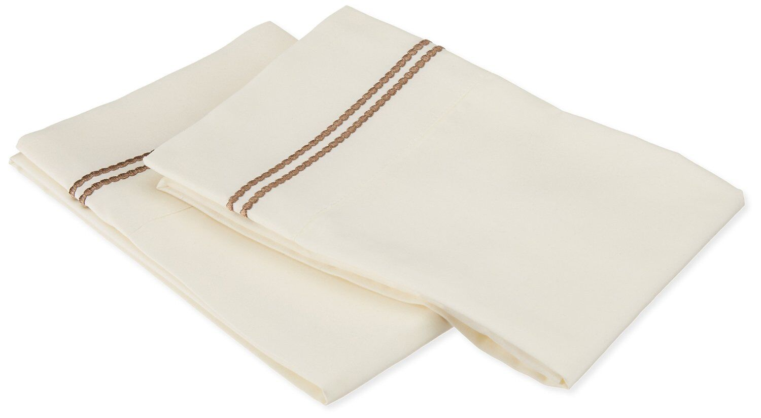 Garrick Pillowcase Color: Ivory/Taupe, Size: King
