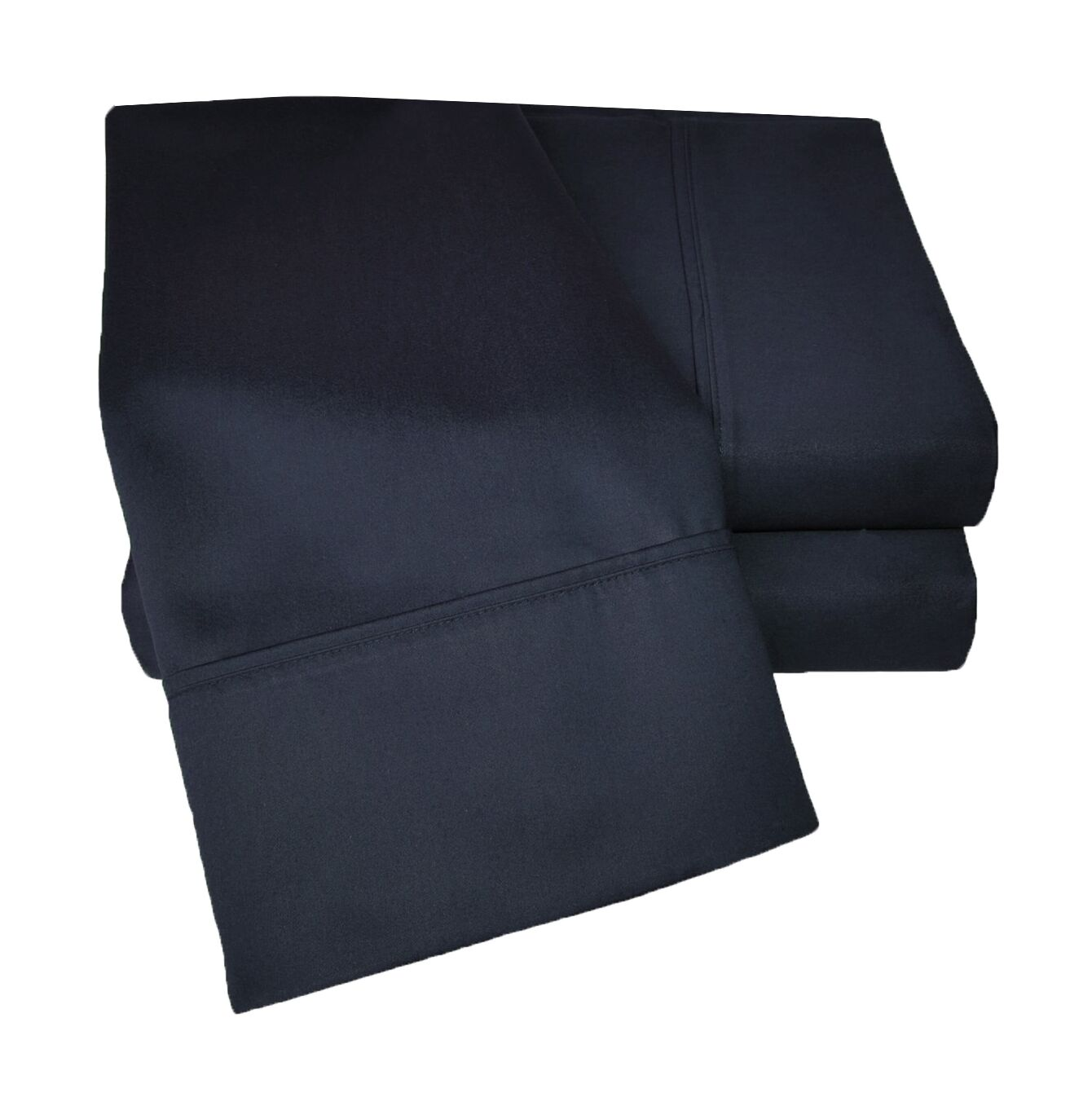 Uinta 1000 Thread Count Wrinkle Resistant Cotton Blend Sheet Set Size: Full, Color: Navy Blue