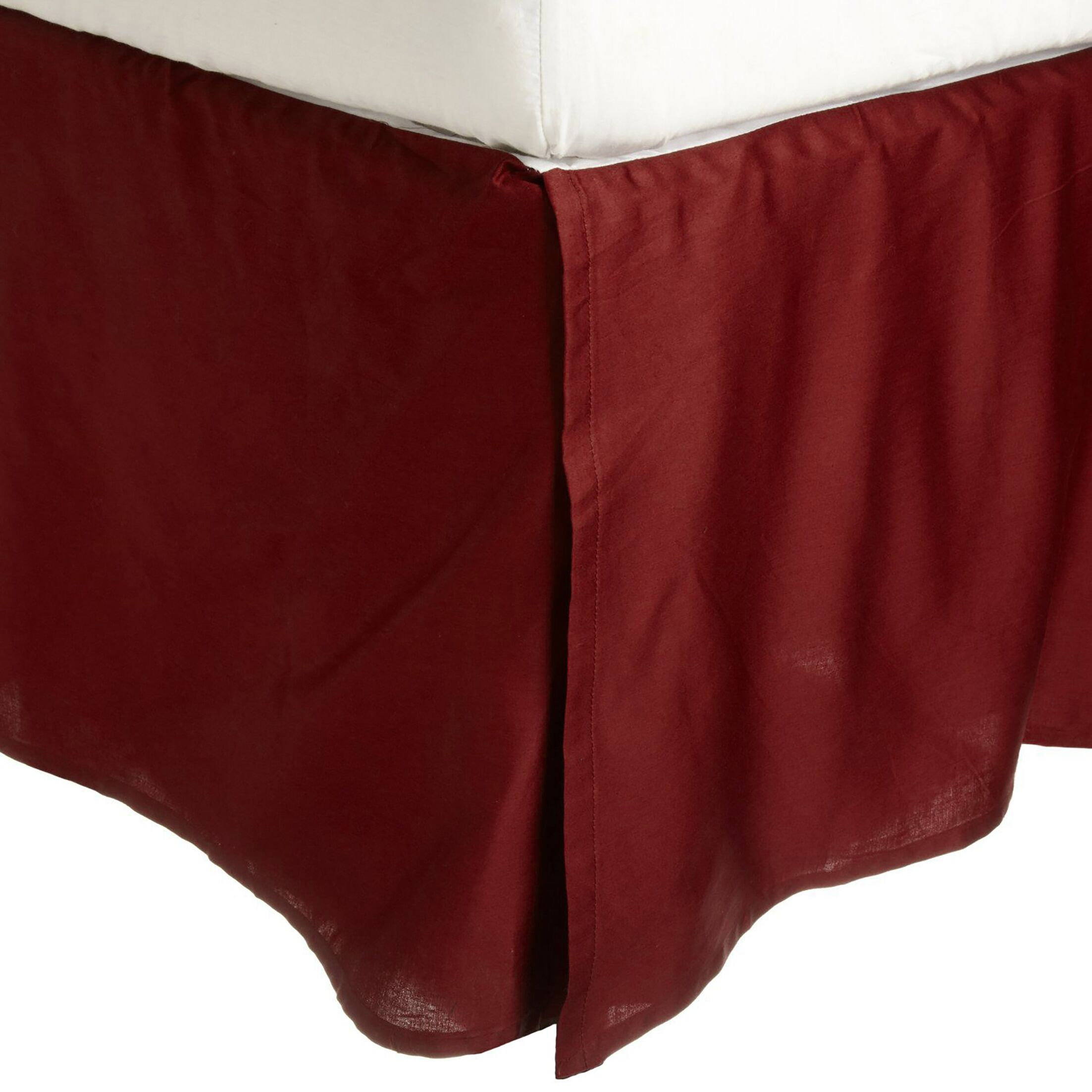 300 Thread Count 100% Cotton Bed Skirt Color: Burgundy, Size: King