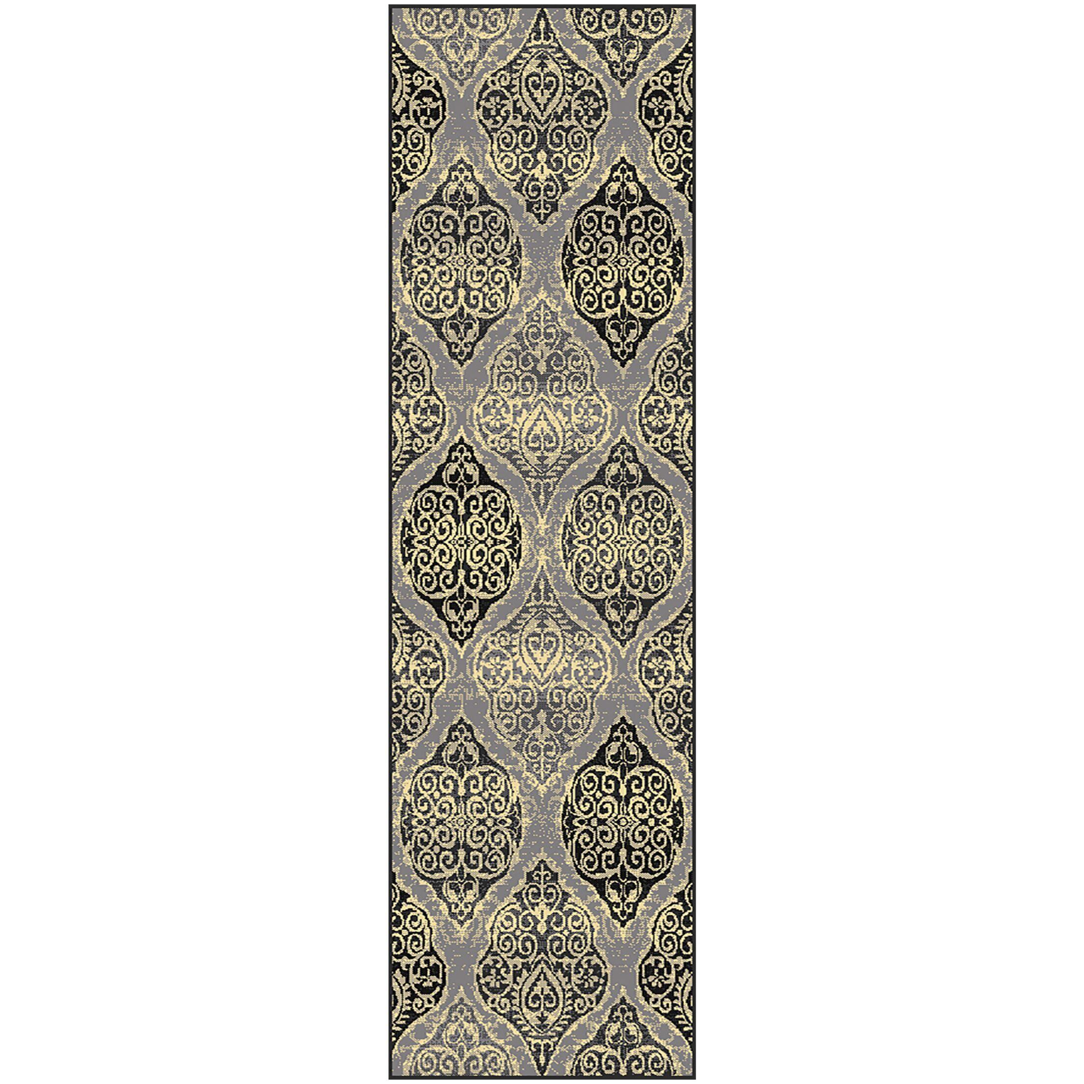 Sheila Rectangle Gray/Beige Area Rug Rug Size: Rectangle 5' x 8'