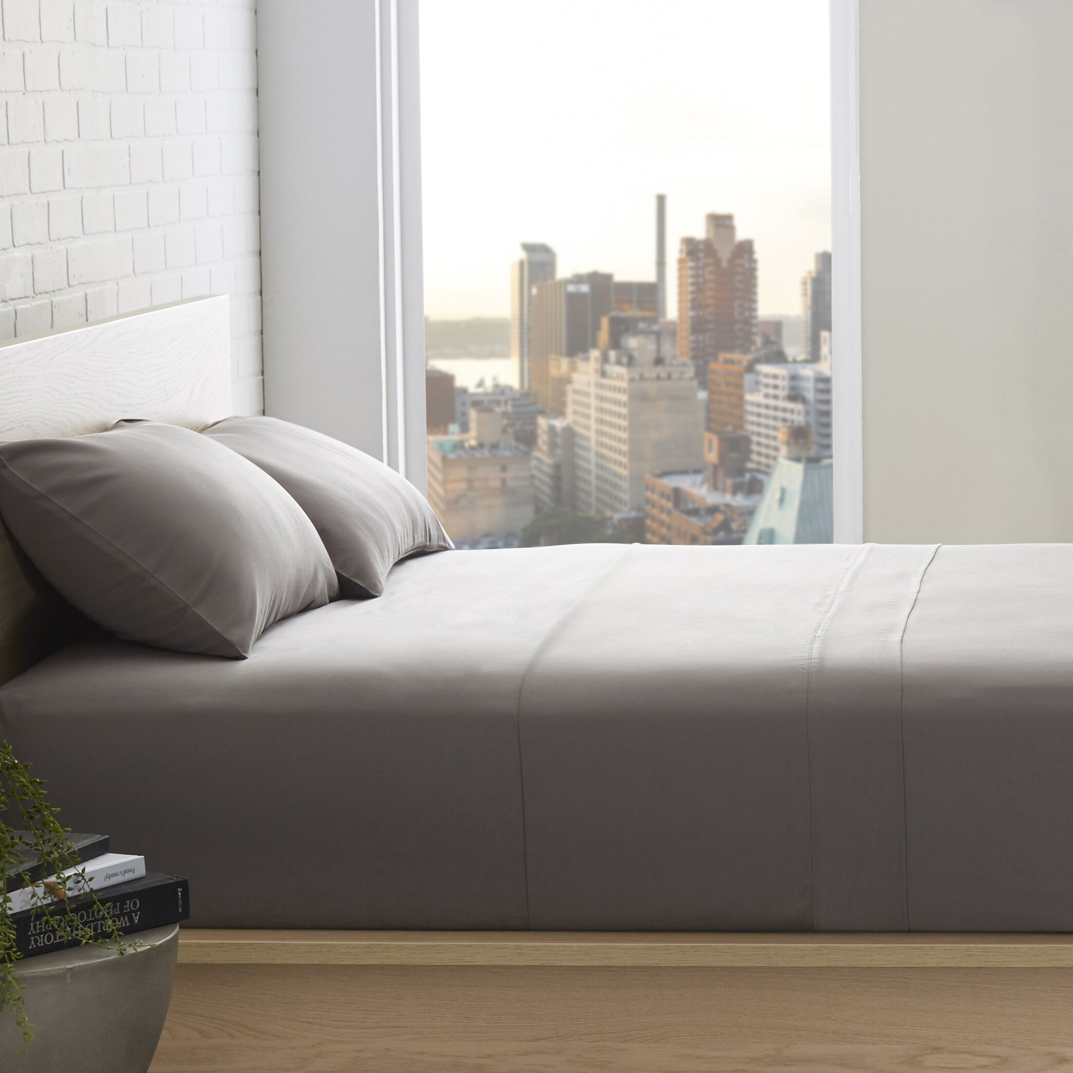 Patric 800 Thread Count 100% Egyptian-Quality Cotton Sheet Set Size: California King, Color: Grey