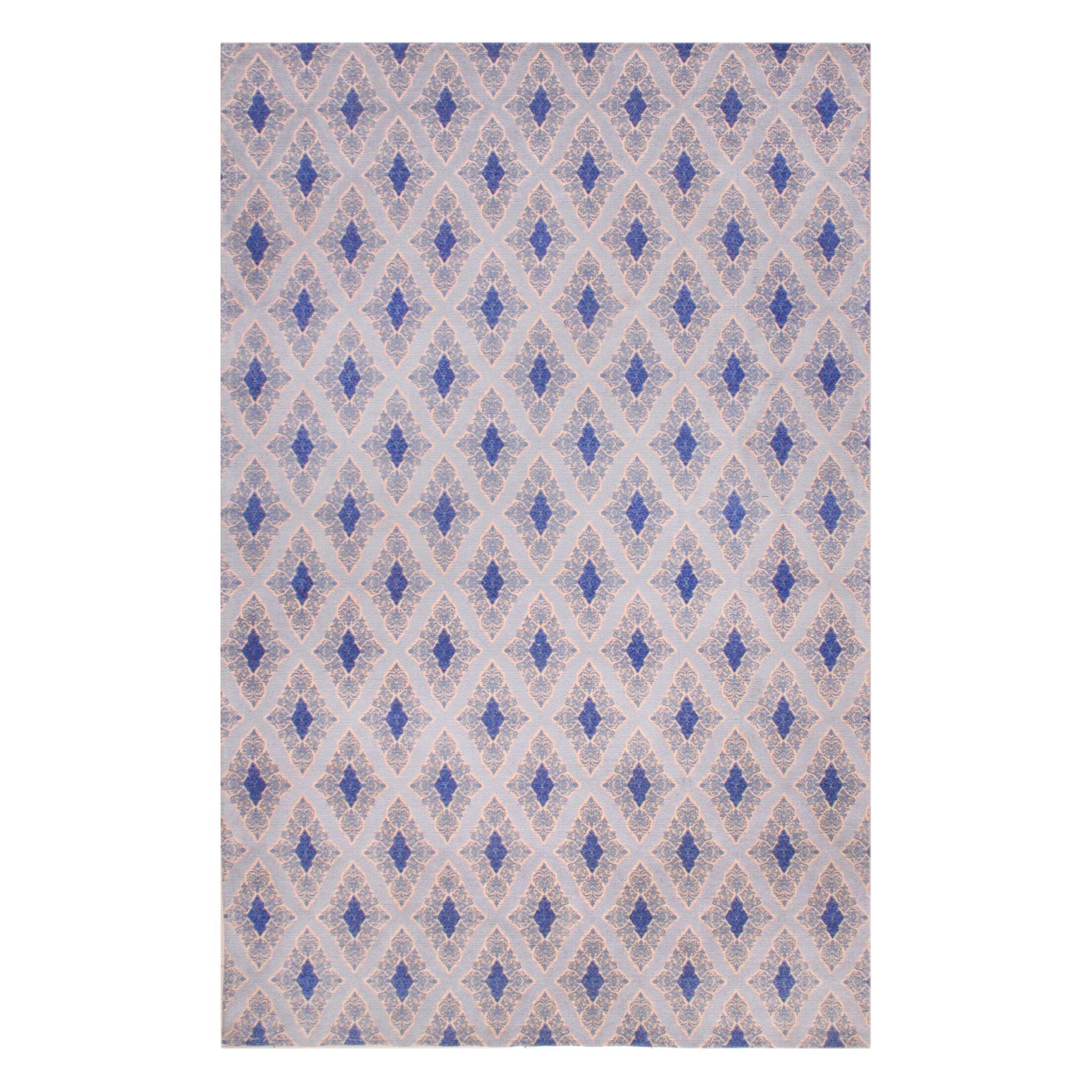 Rosalida Hand Woven Blue Area Rug Rug Size: 5' x 8'