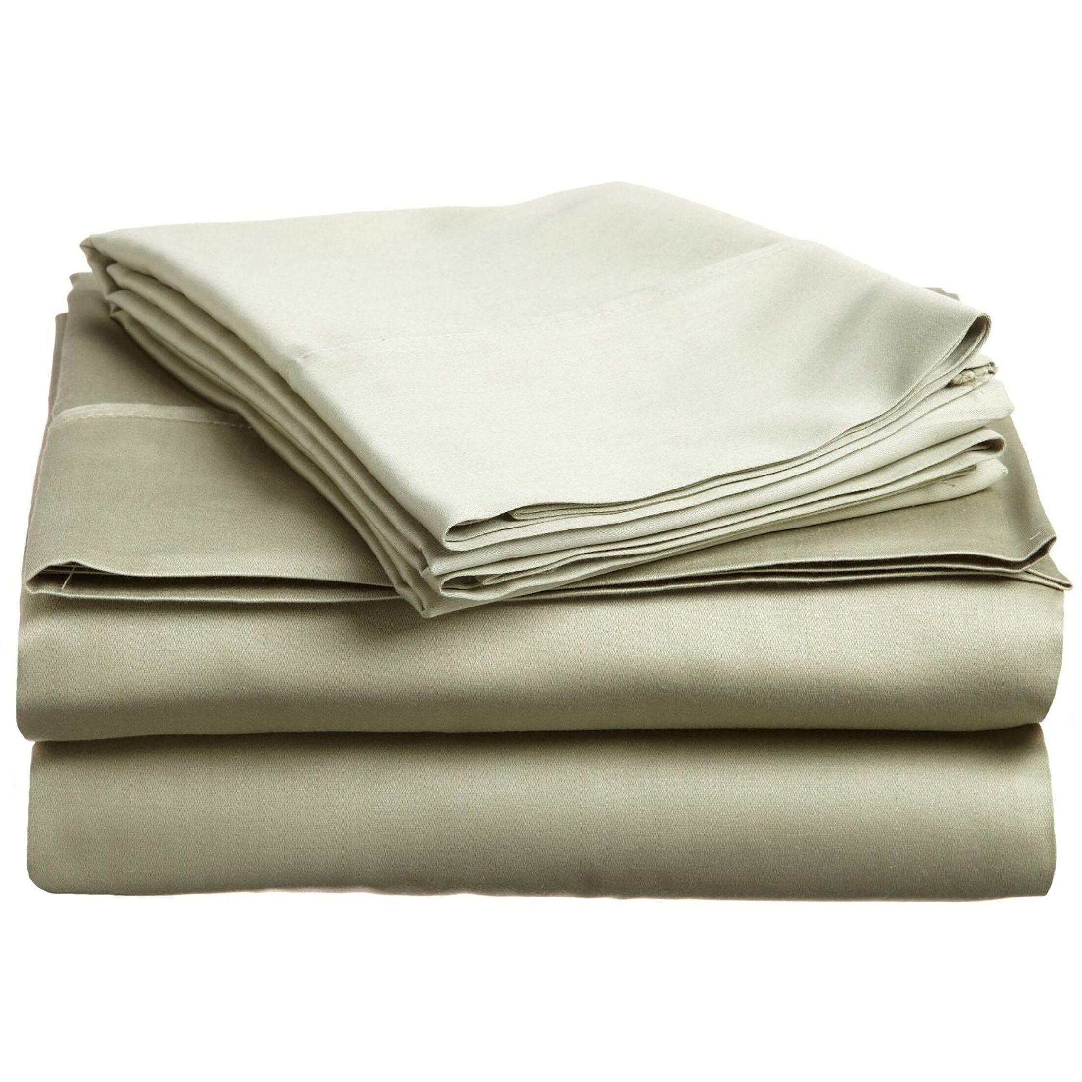 Cullen 400 Thread Count 100% Premium Cotton Sheet Set Size: Split King, Color: Sage