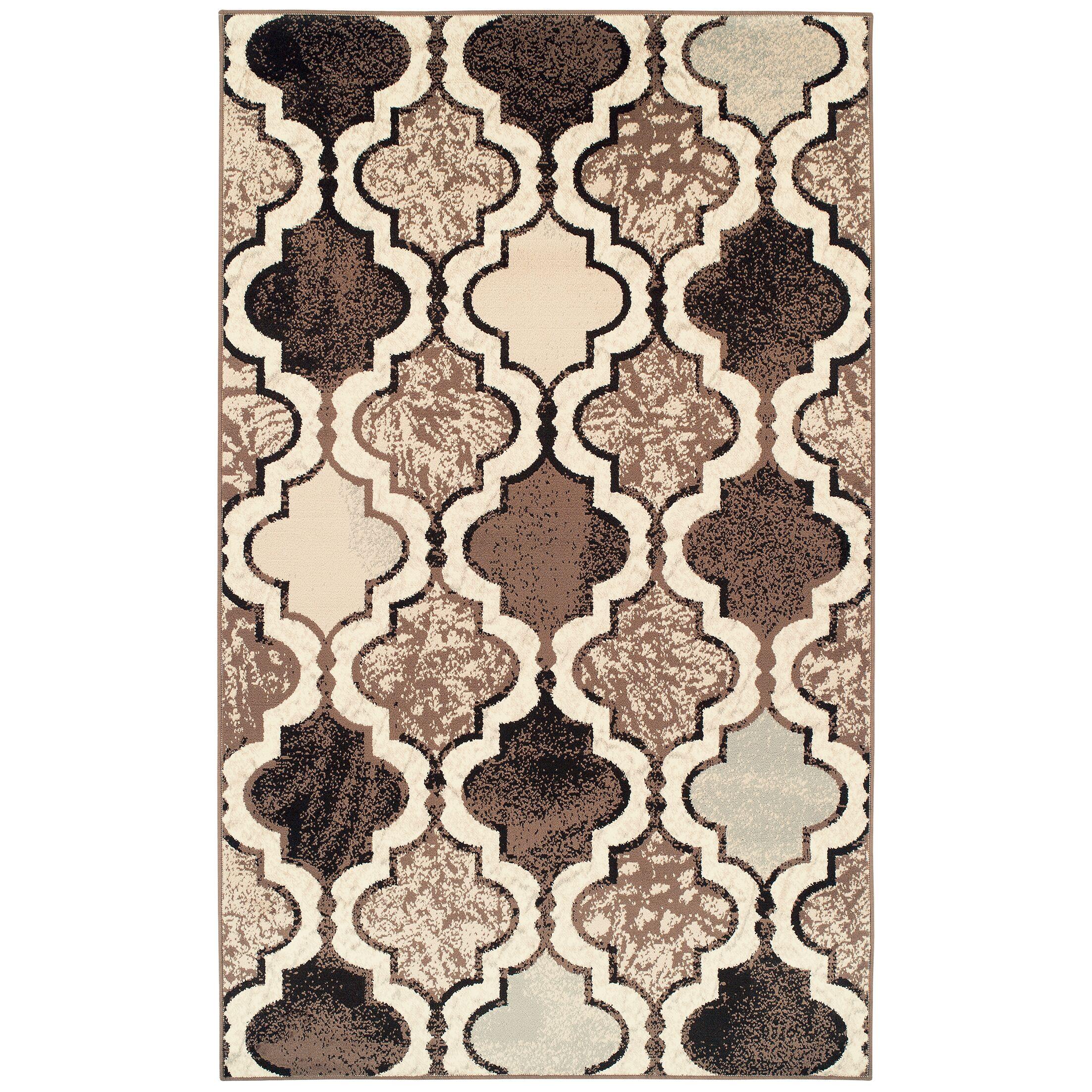 Lamoille Trellis Beige/Brown Area Rug Rug Size: Rectangle 8' x 10'