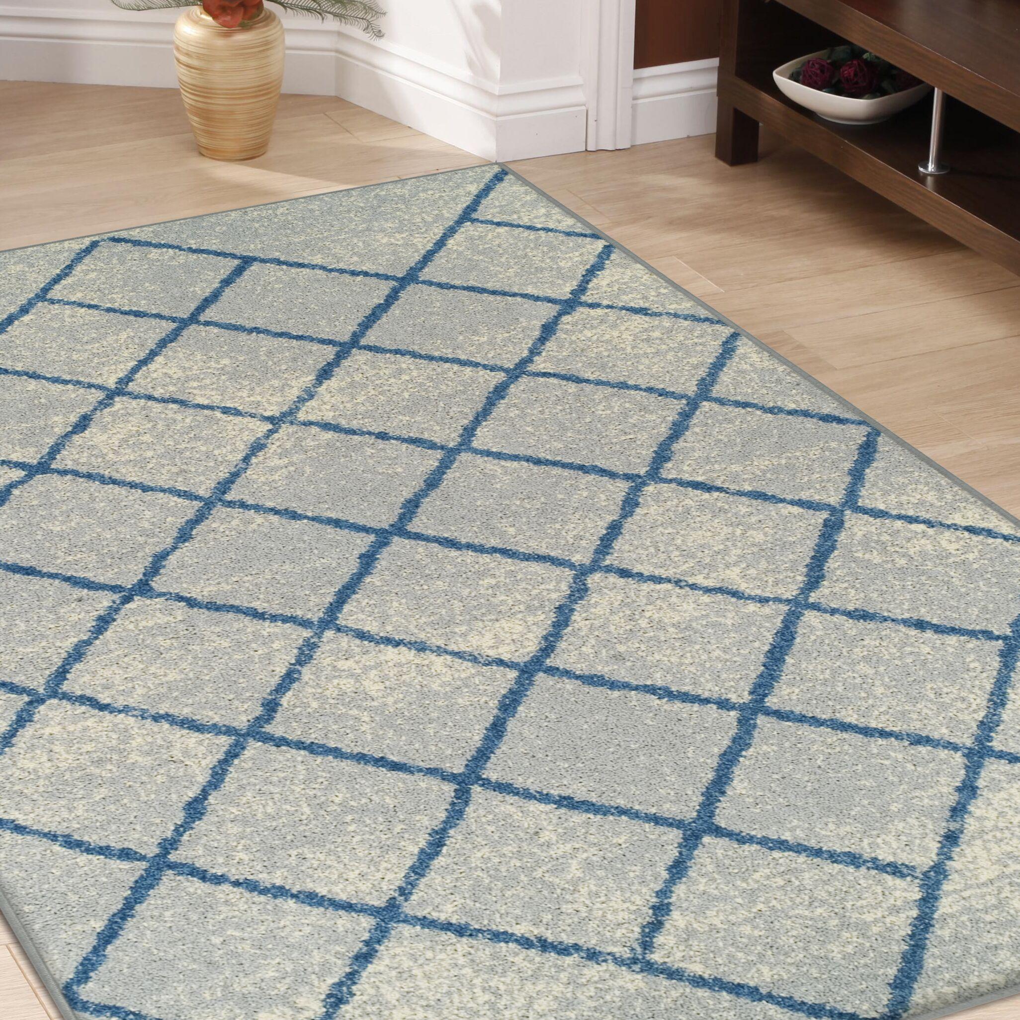 Verity Lattice Gray Area Rug Rug Size: Rectangle 8' x 10'