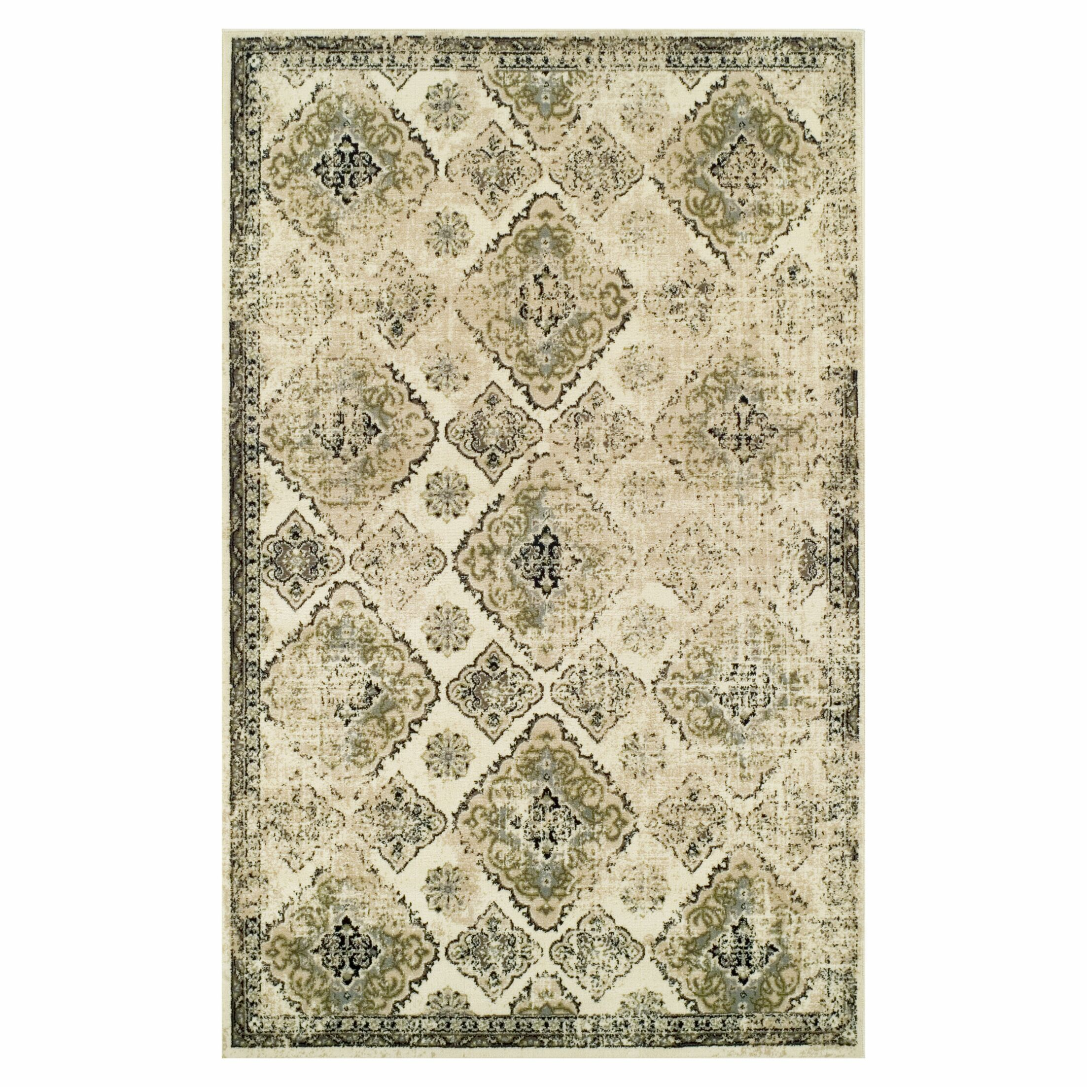Hargrave Green/Beige Area Rug Rug Size: Rectangle 8' x 10'