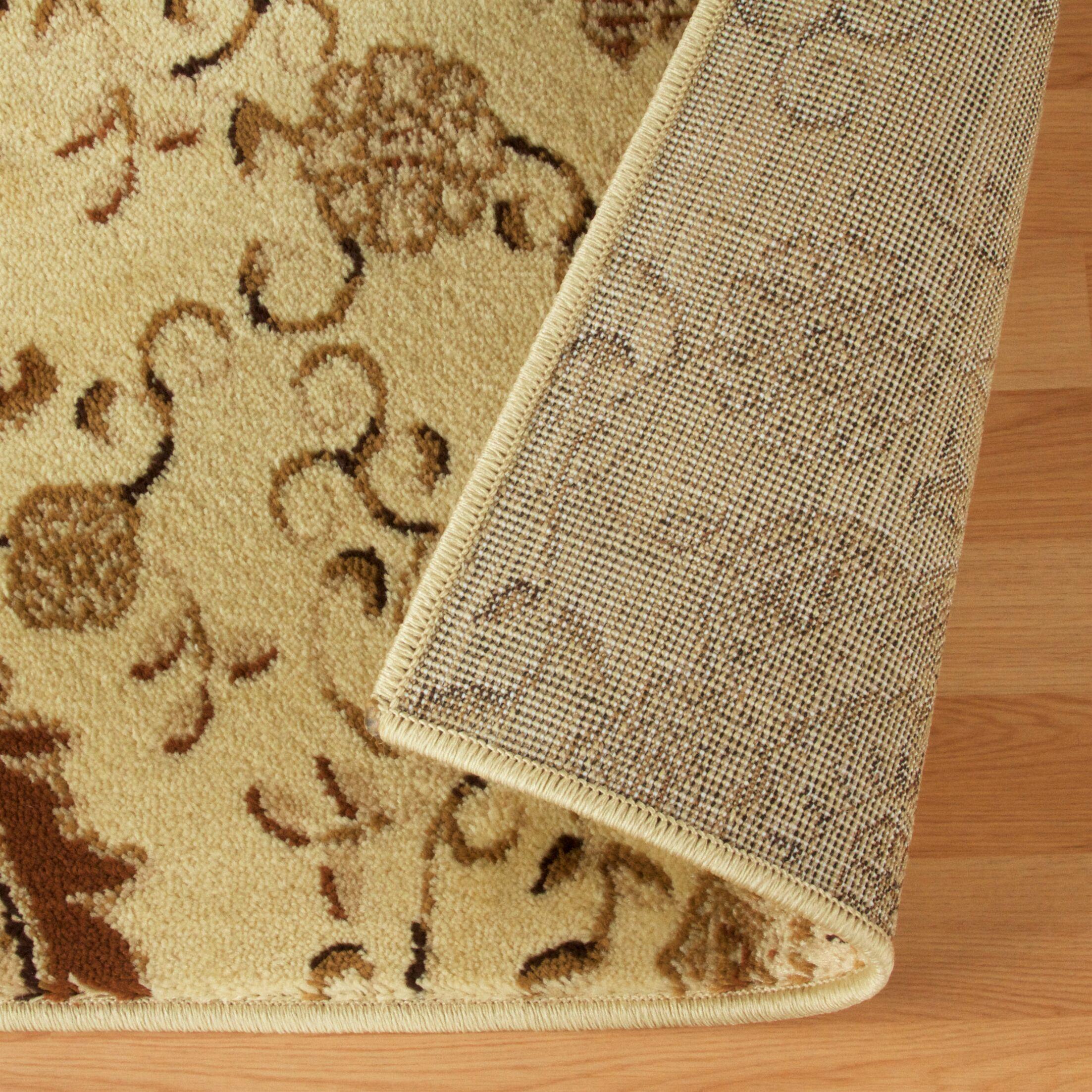 Goshen Contemporary Gold Area Rug Rug Size: Rectangle 8' x 10'