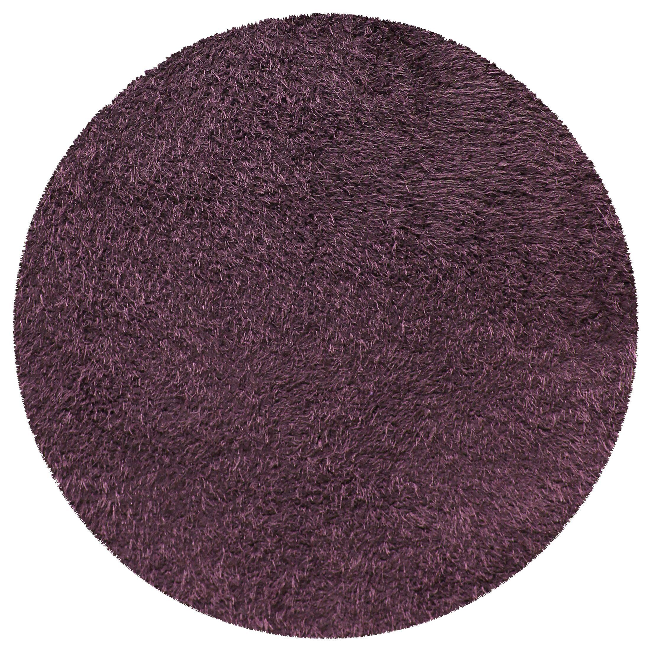 Blaisdell Shag Hand Woven Purple Area Rug Rug Size: Round 6'6