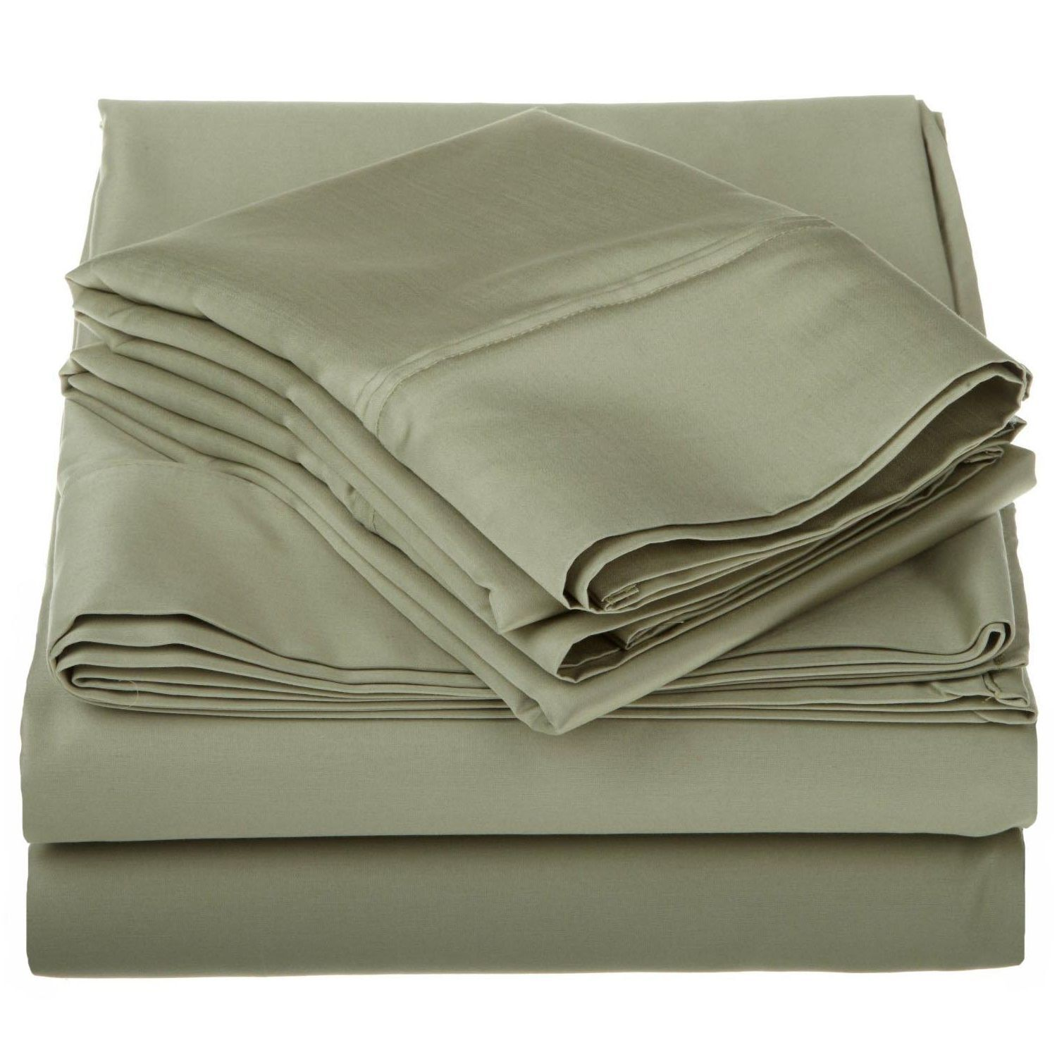 1200 Thread Count Egyptian-Quality Cotton Sheet Set Color: Sage, Size: Full