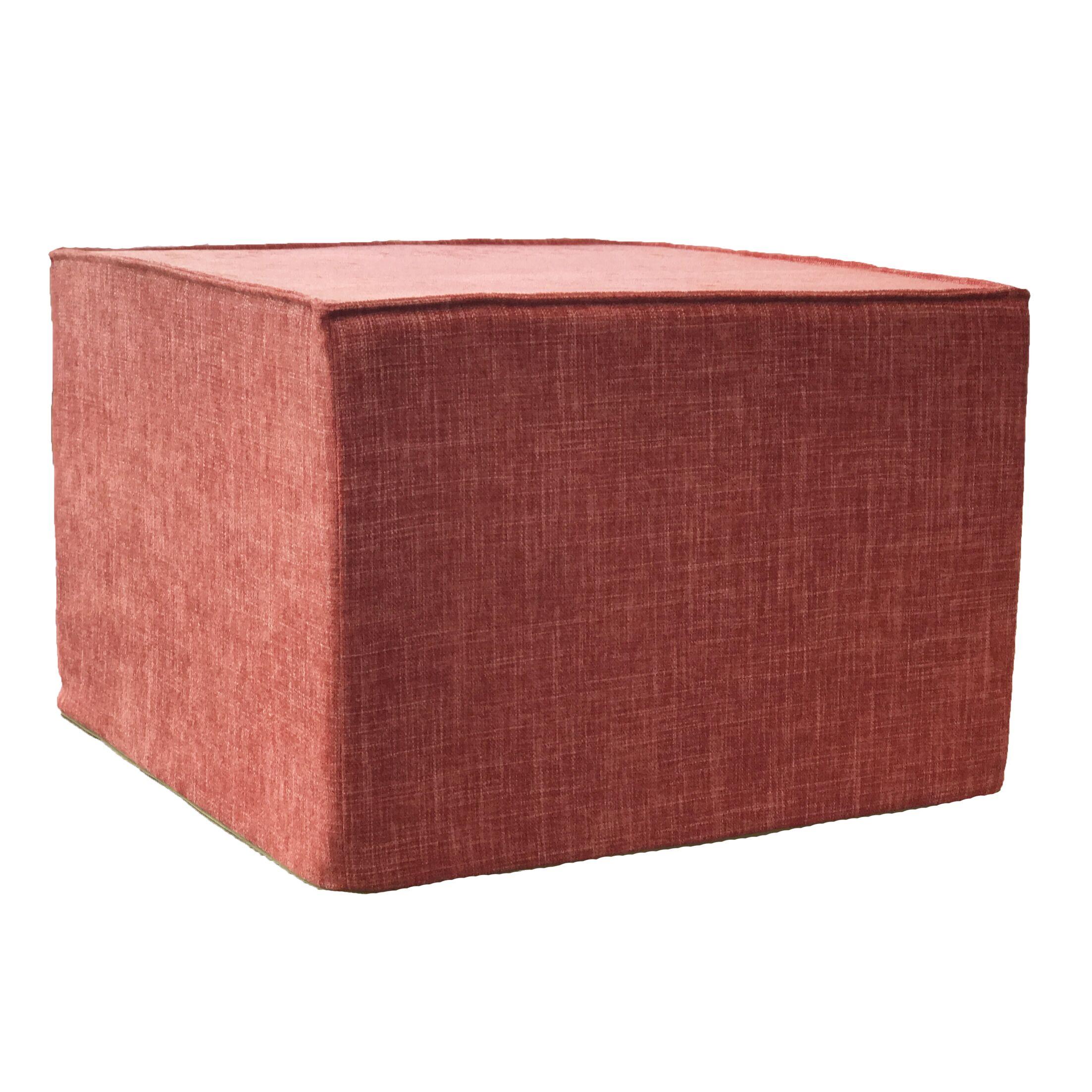Edmiston Ottoman Fabric: Red