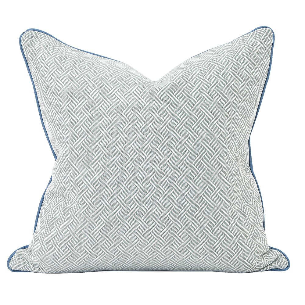 Beach Club Down Insert Throw Pillow Color: Ocean, Size: 24