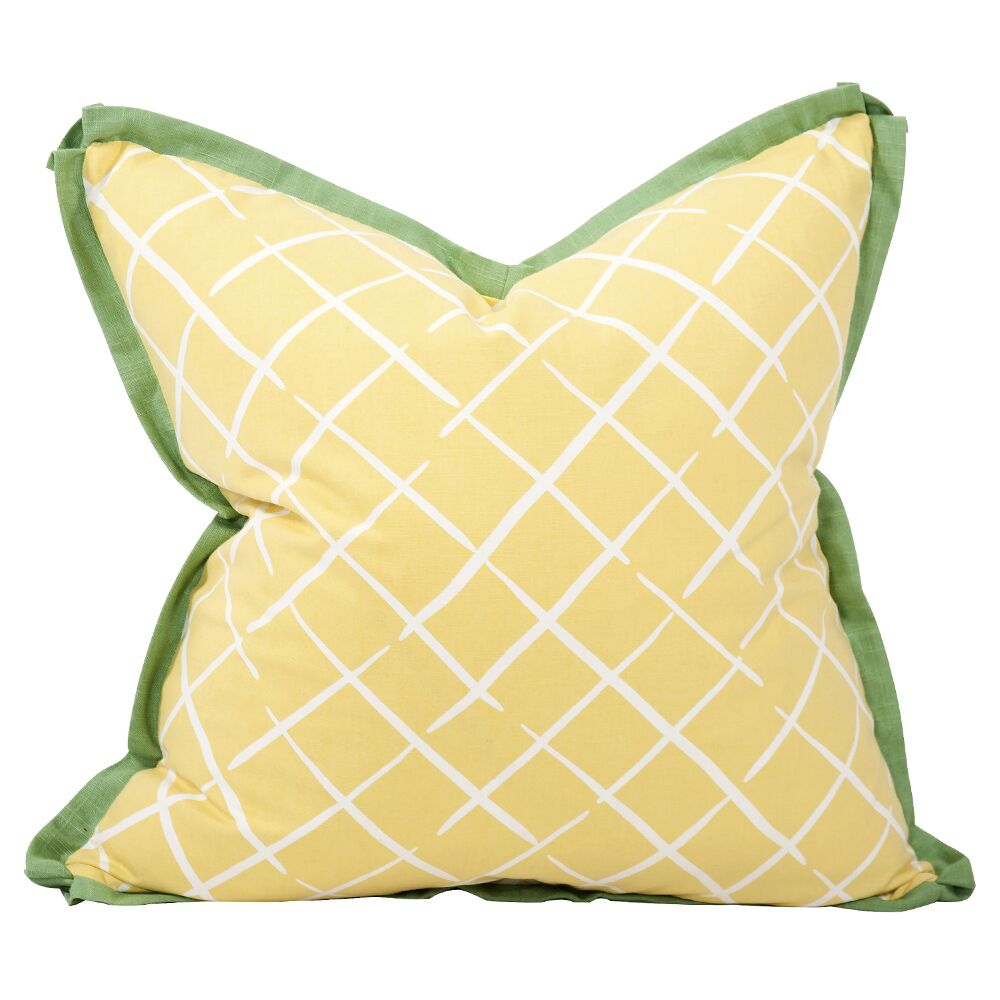 Cove End Throw Pillow Color: Daffodil, Size: 24