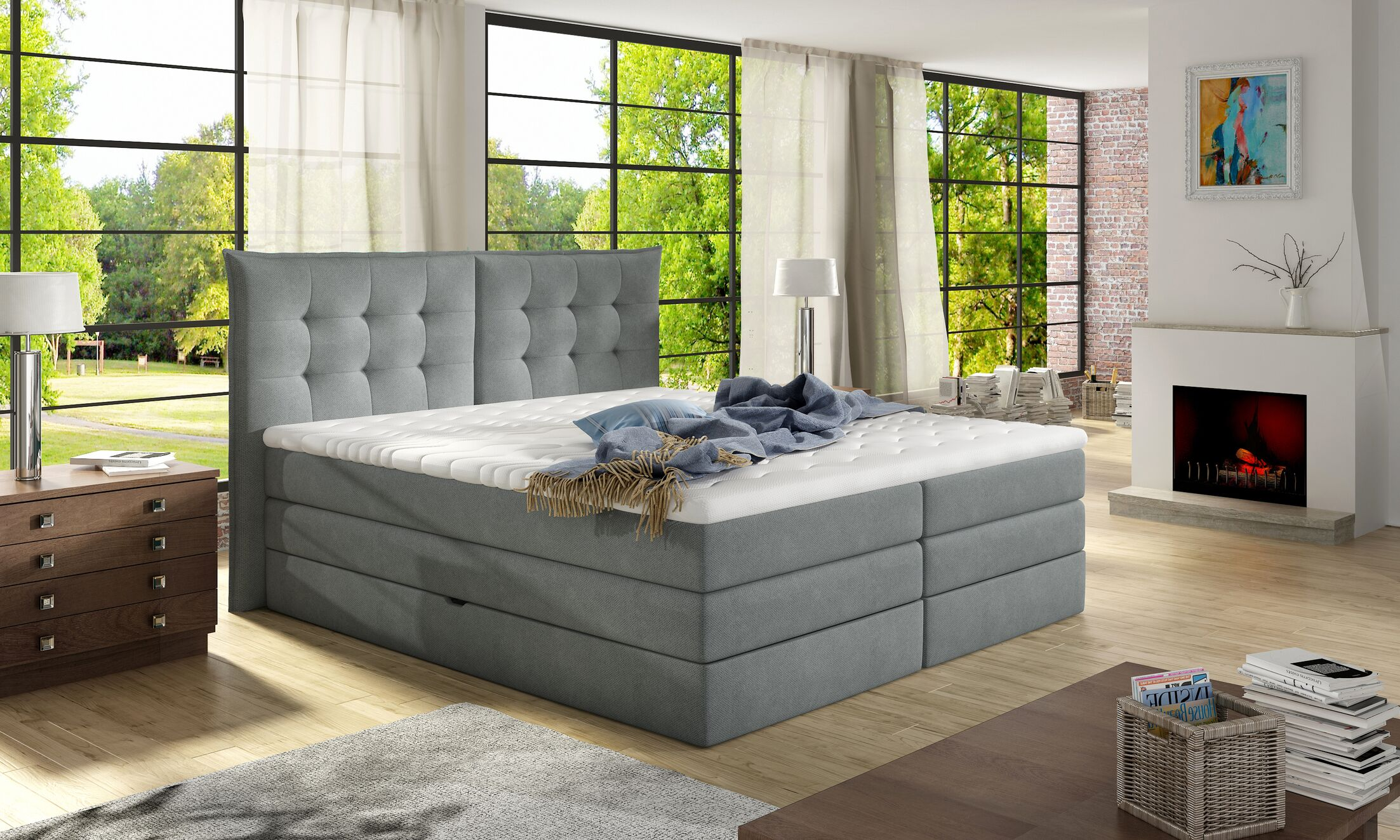 Schwager Upholstered Storage Panel Bed with Mattress Size: Queen