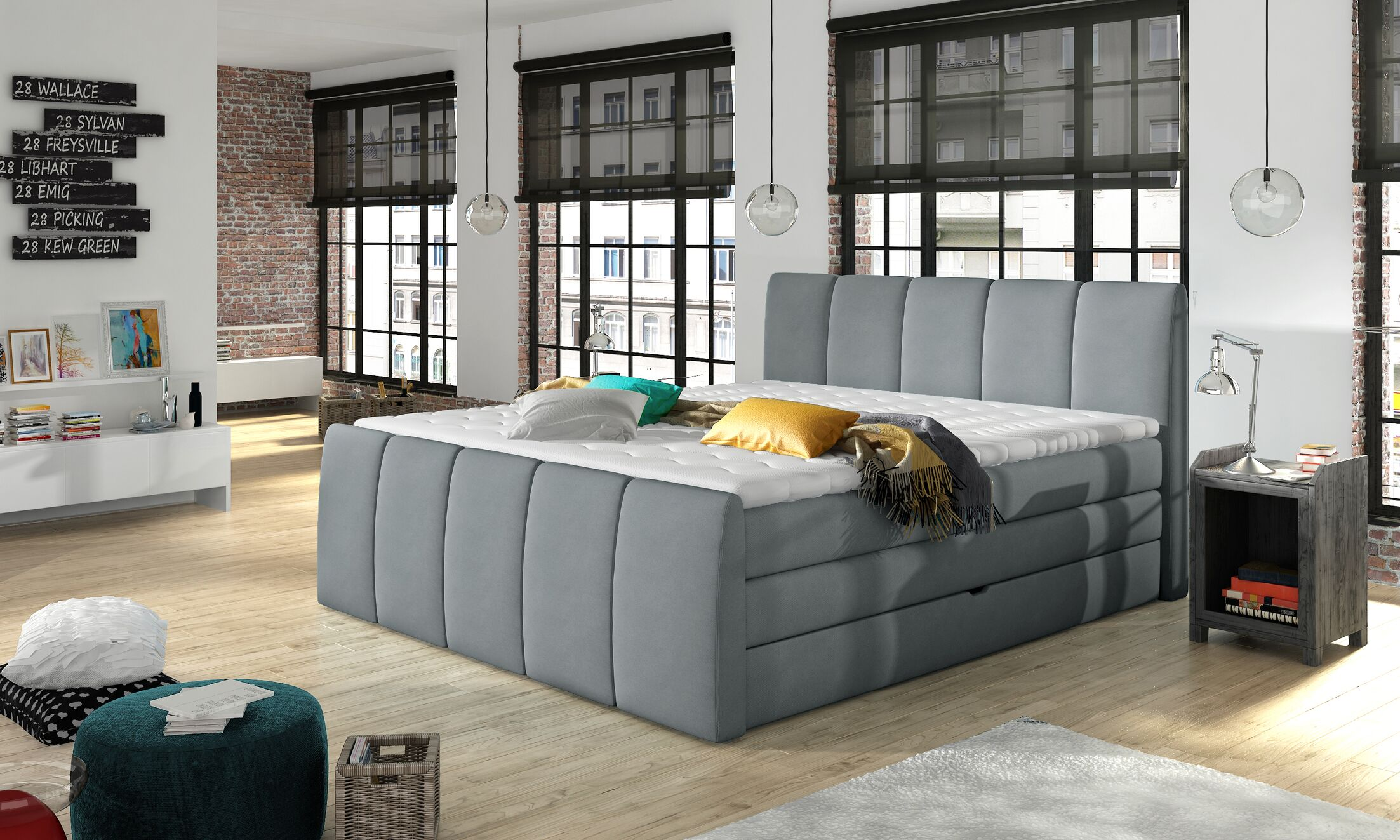 Schwab Upholstered Storage Panel Bed with Mattress Size: King