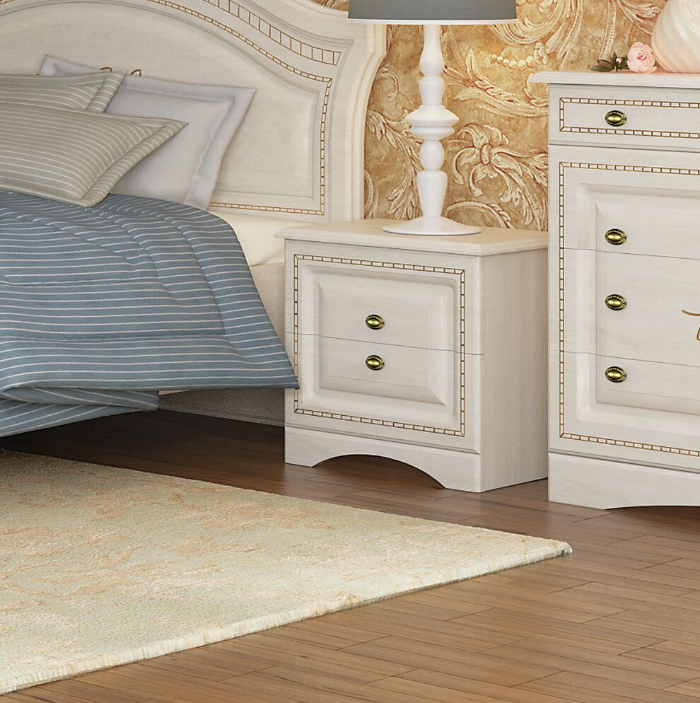 Cormiers 2 Drawer Nightstand Color: Birch