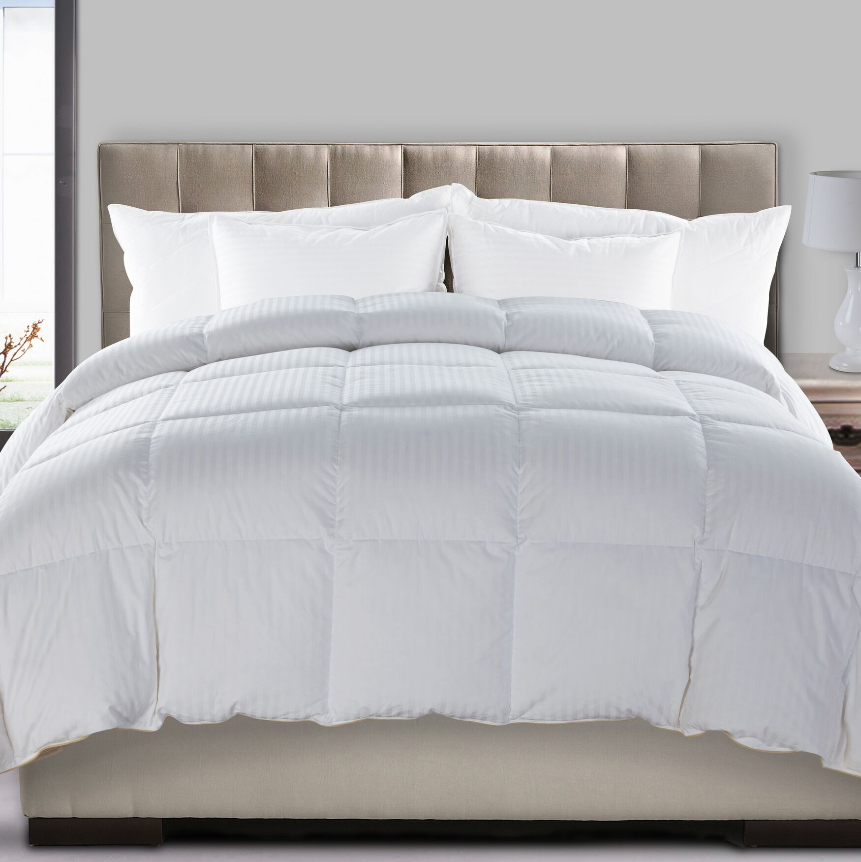 Ultra All Season Down Cotton Comforter Size: Twin