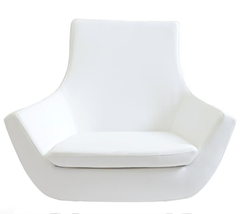 Creason Swivel Leather Lounge Chair Seat Color: White