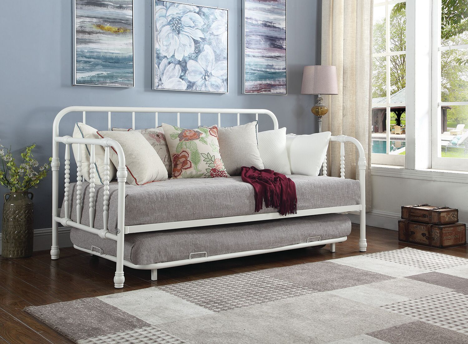 Hillsborough Daybed with Trundle Color: White