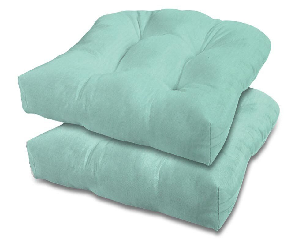 Eco-Friendly Indoor/Outdoor Adirondack Chair Cushion Fabric: Glacier