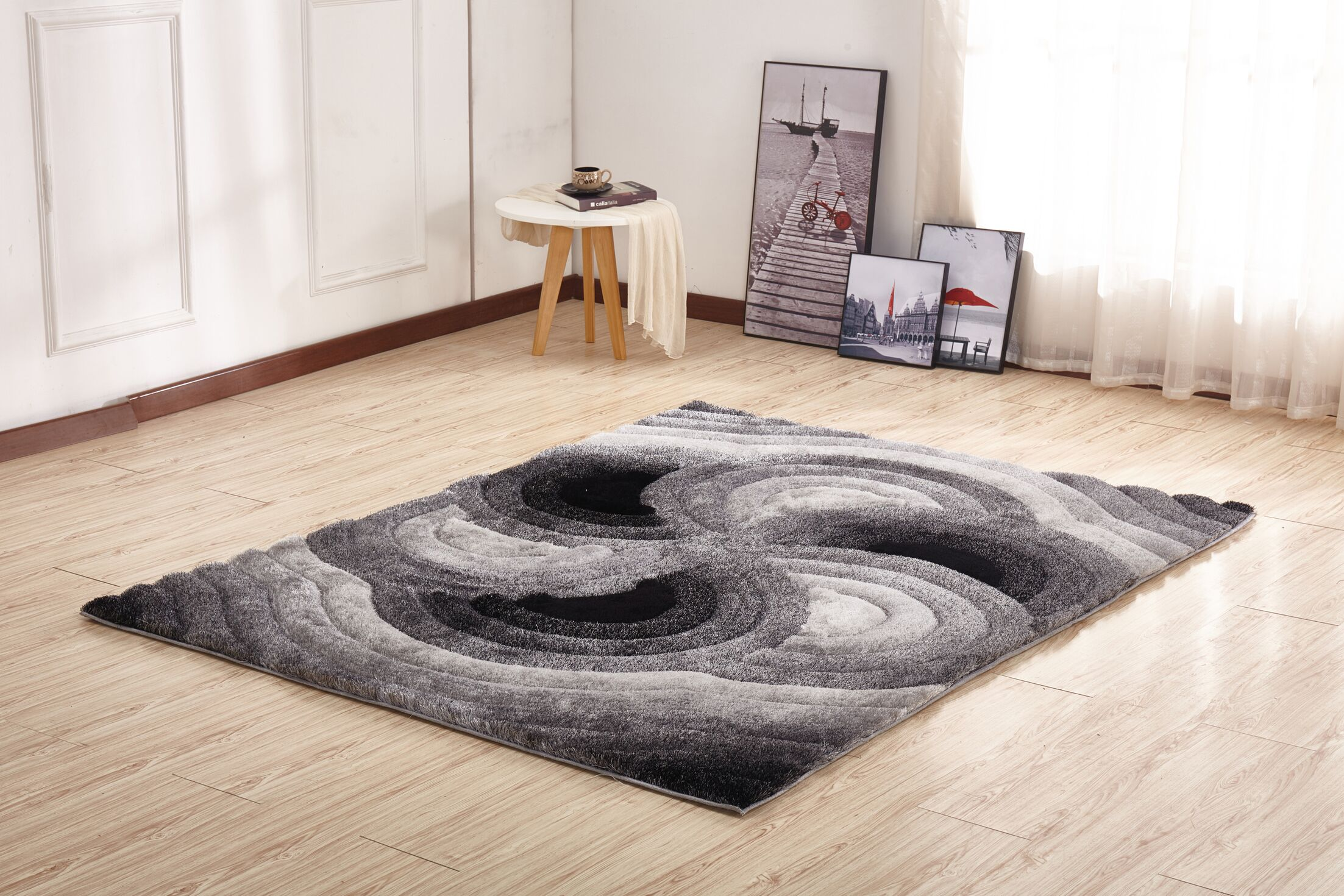 Walk Shaggy 3D Gray Indoor/Outdoor Area Rug