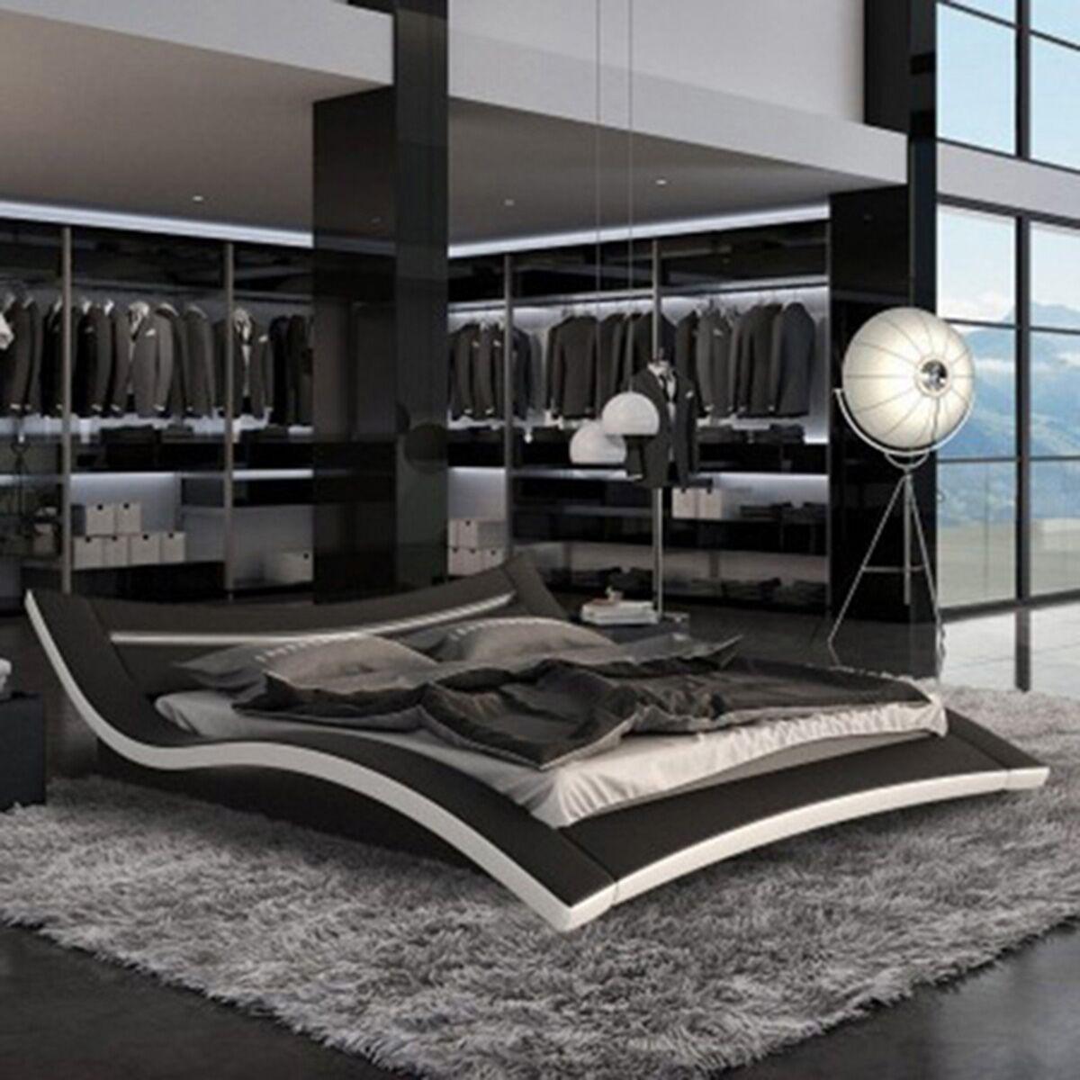 Fetzer Upholstered Platform Bed Color: Black, Size: King