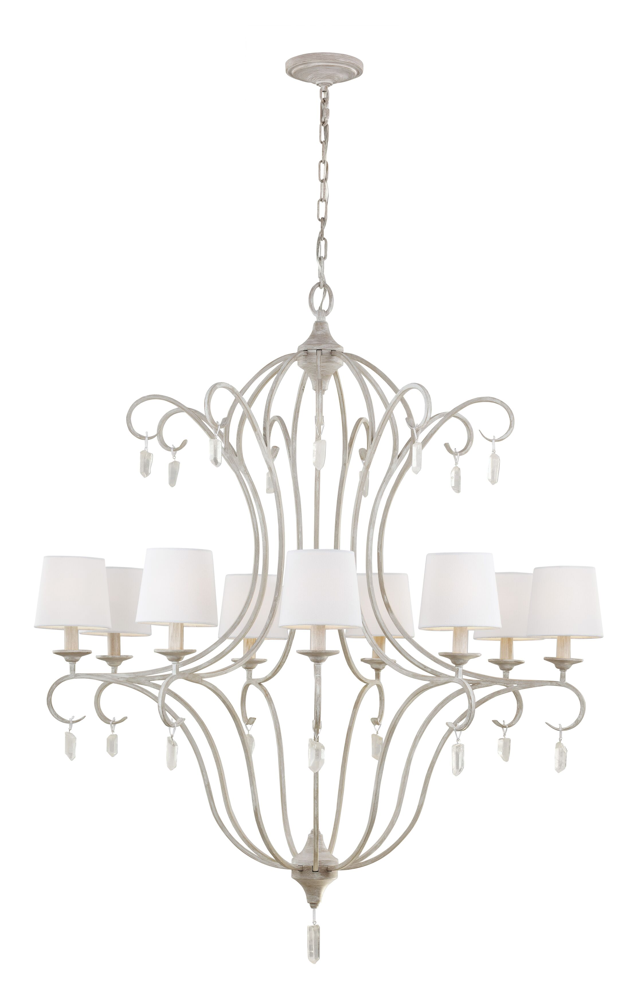 Caprice 9-Light Shaded Chandelier