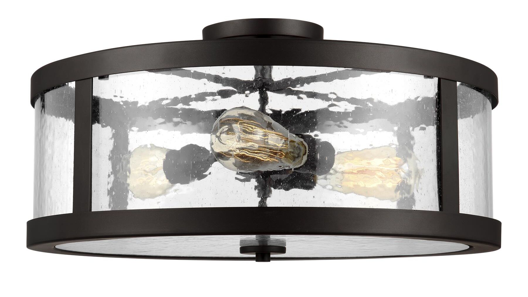 Gilberta 3-Light Semi Flush Mount Finish: Oil Rubbed Bronze