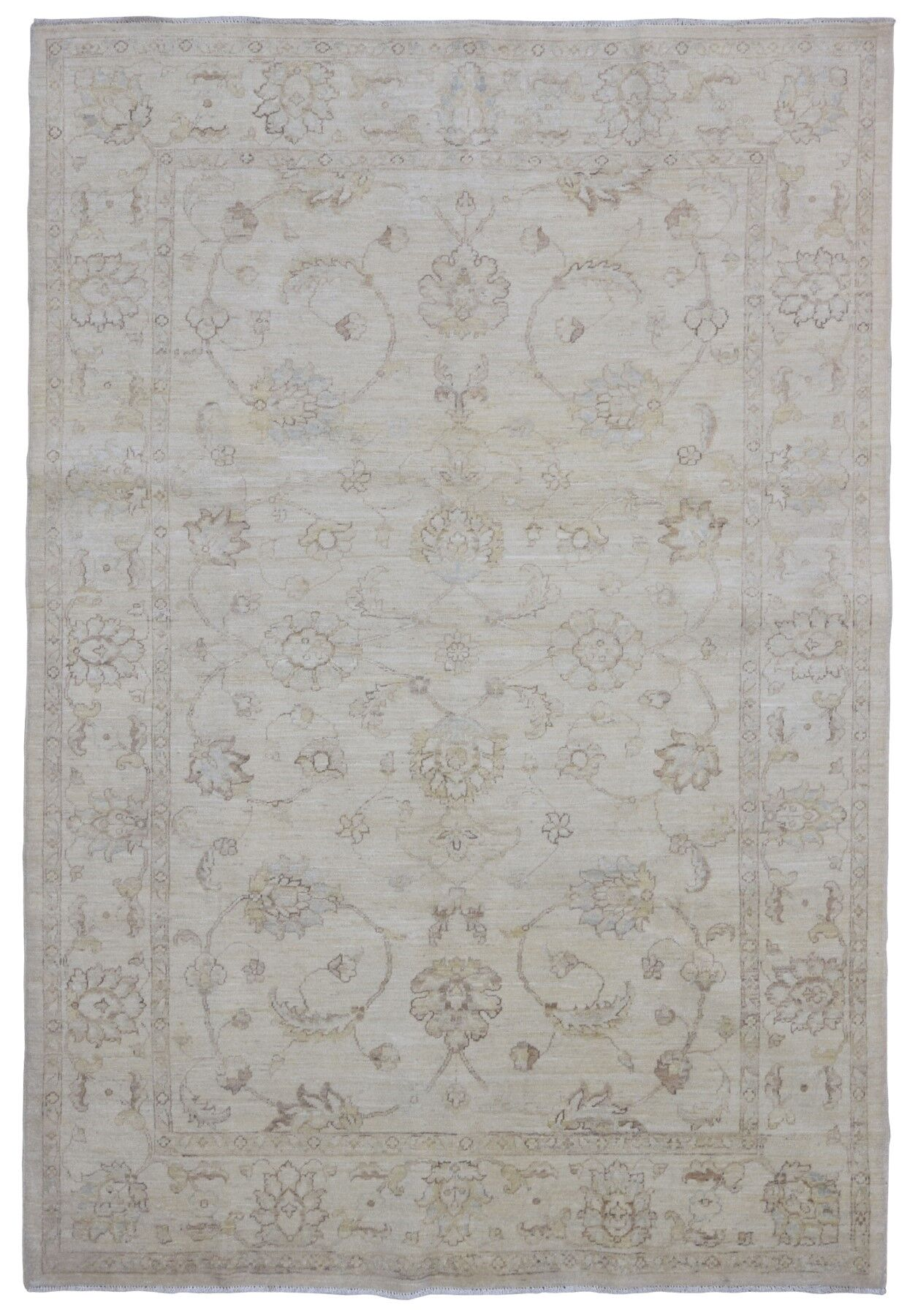 One-of-a-Kind Beall Oriental Hand-Woven Wool Beige Area Rug