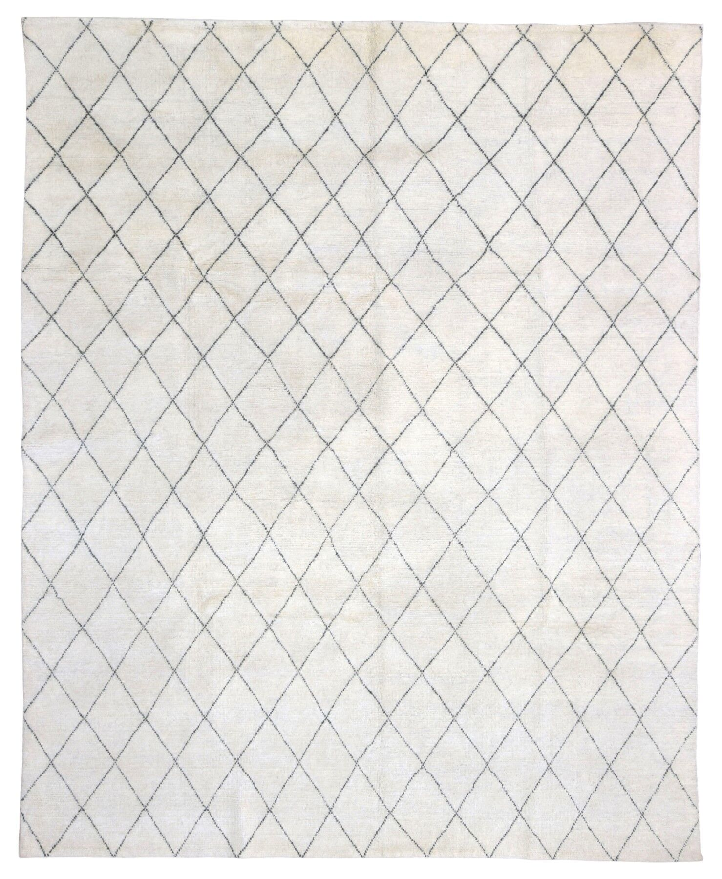 One-of-a-Kind Pasquale Hand-Woven Wool Cream/Black Area Rug