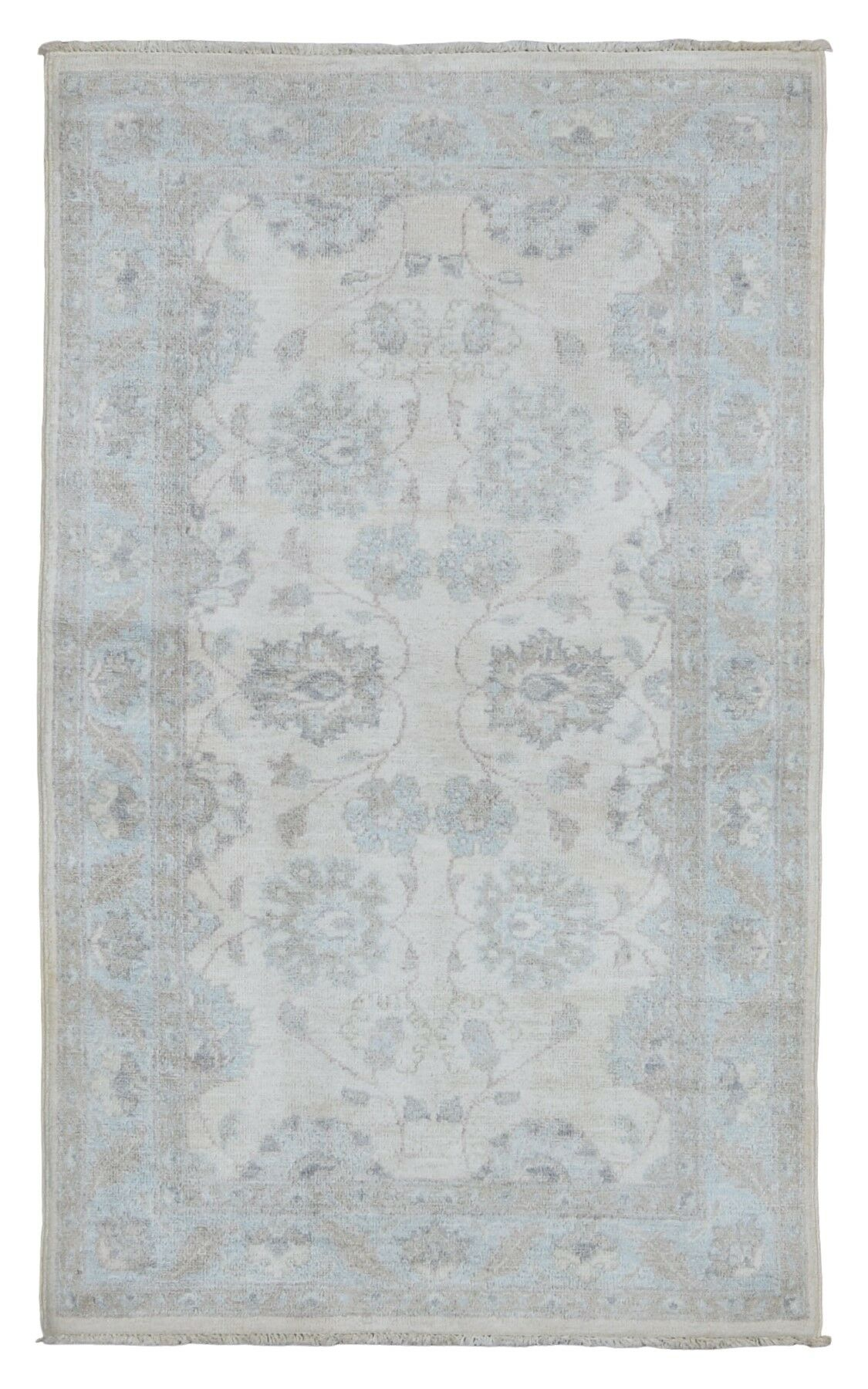 One-of-a-Kind Noi Hand-Knotted Wool Gray Area Rug