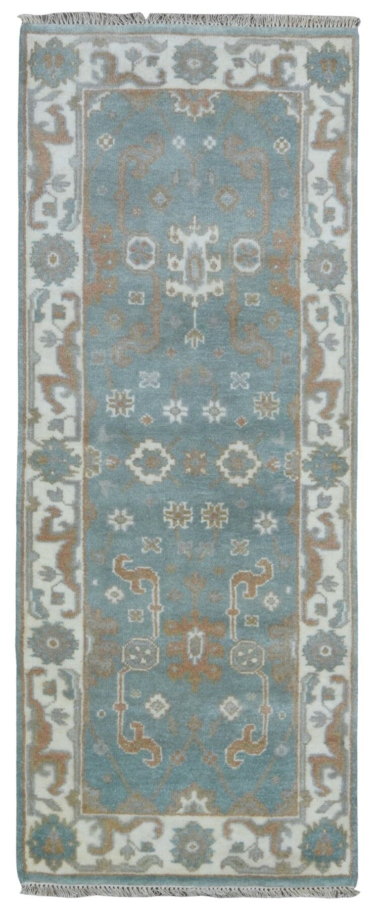 Mitchel Hand Woven Wool Blue/Beige Area Rug