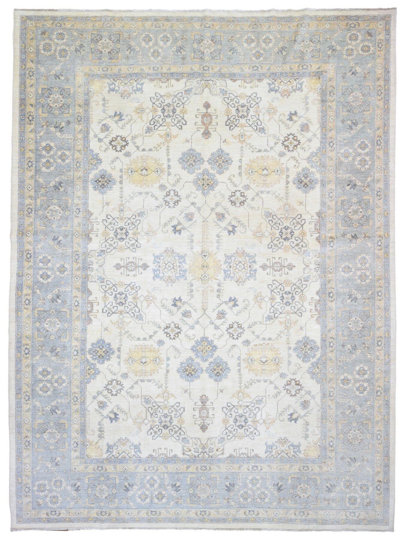 Ardith Hand Woven Wool Blue/Beige Area Rug