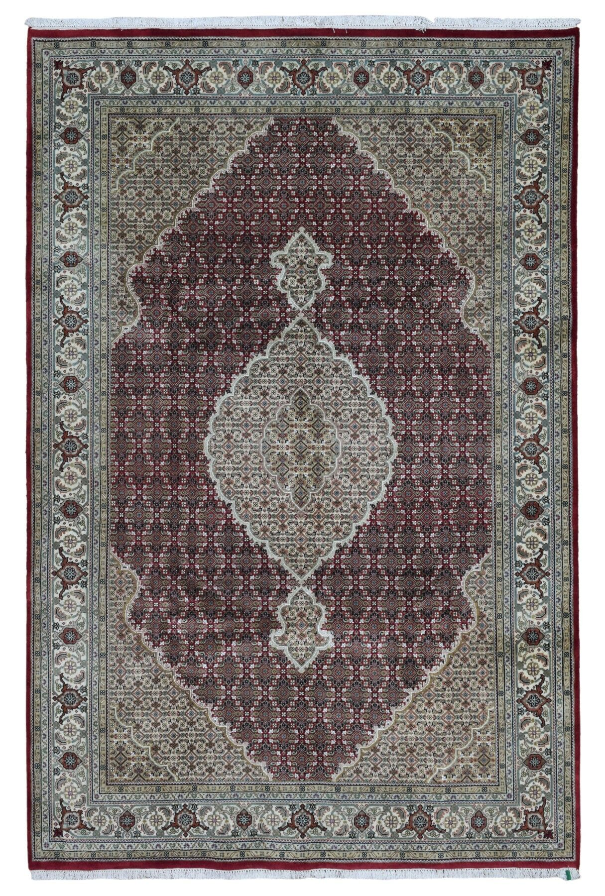 One-of-a-Kind Bakerstown Oriental Hand Woven Silk Red/Gray Area Rug