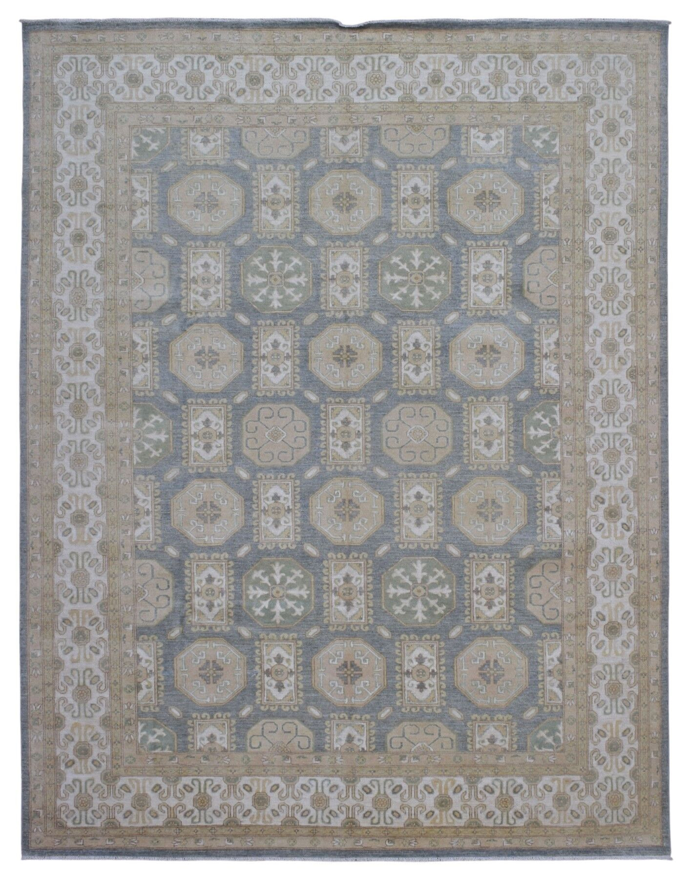One-of-a-Kind Ardith Hand Hand-Knotted Wool Beige Area Rug