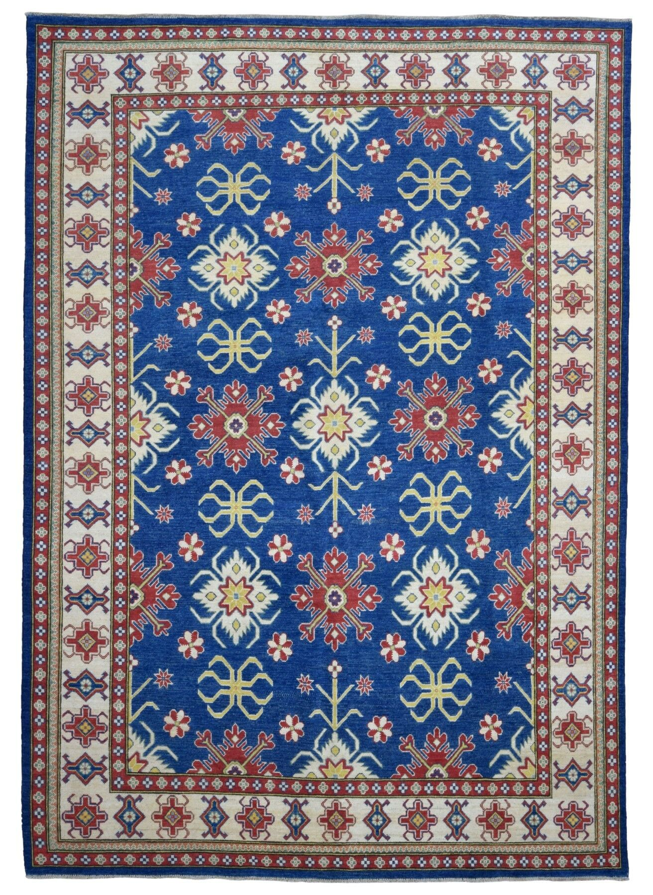 One-of-a-Kind Marjorie Hand-Woven Wool Blue/Red Area Rug