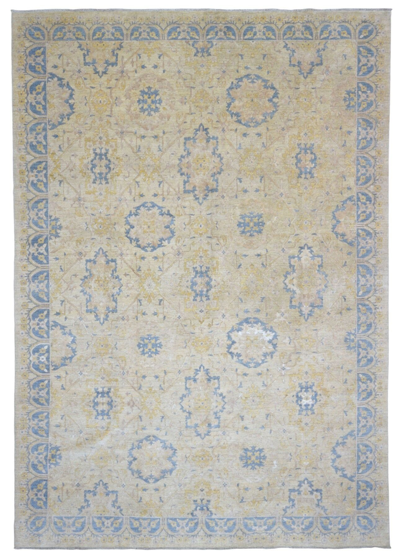 One-of-a-Kind Shumaker Hand-Woven Wool and Silk Yellow Area Rug