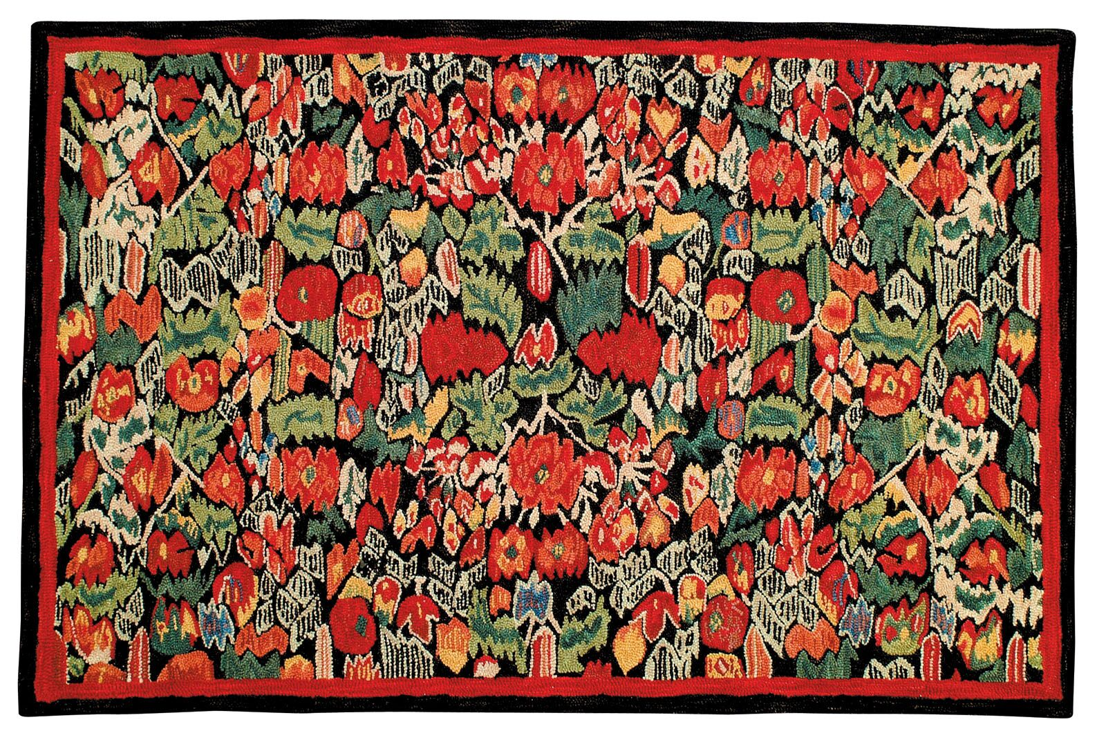 Wessex Hand Tufted Wool Red Area Rug Rug Size: Square 5'