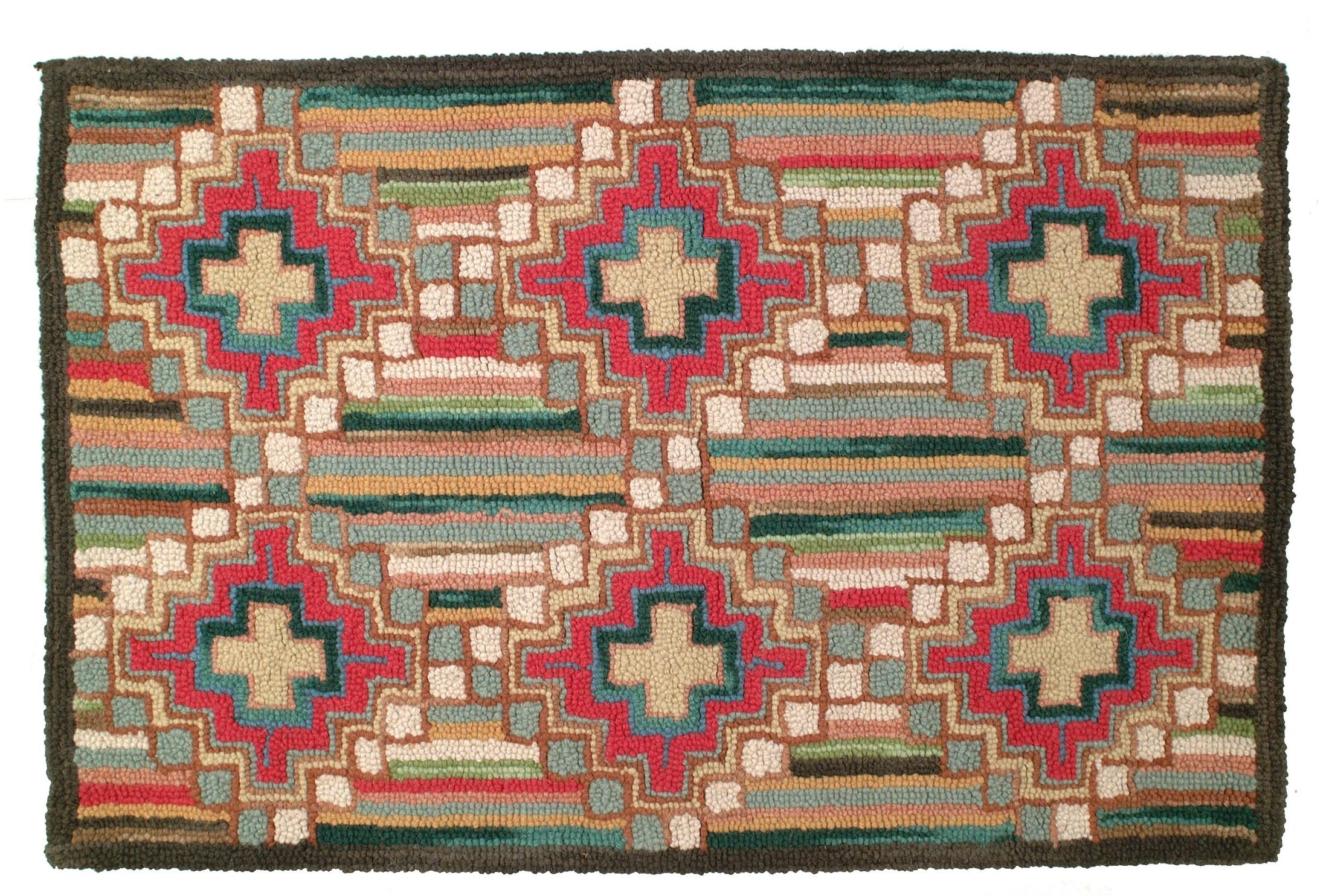 Laurius Hand Tufted Wool Green Area Rug Rug Size: 2' x 3'