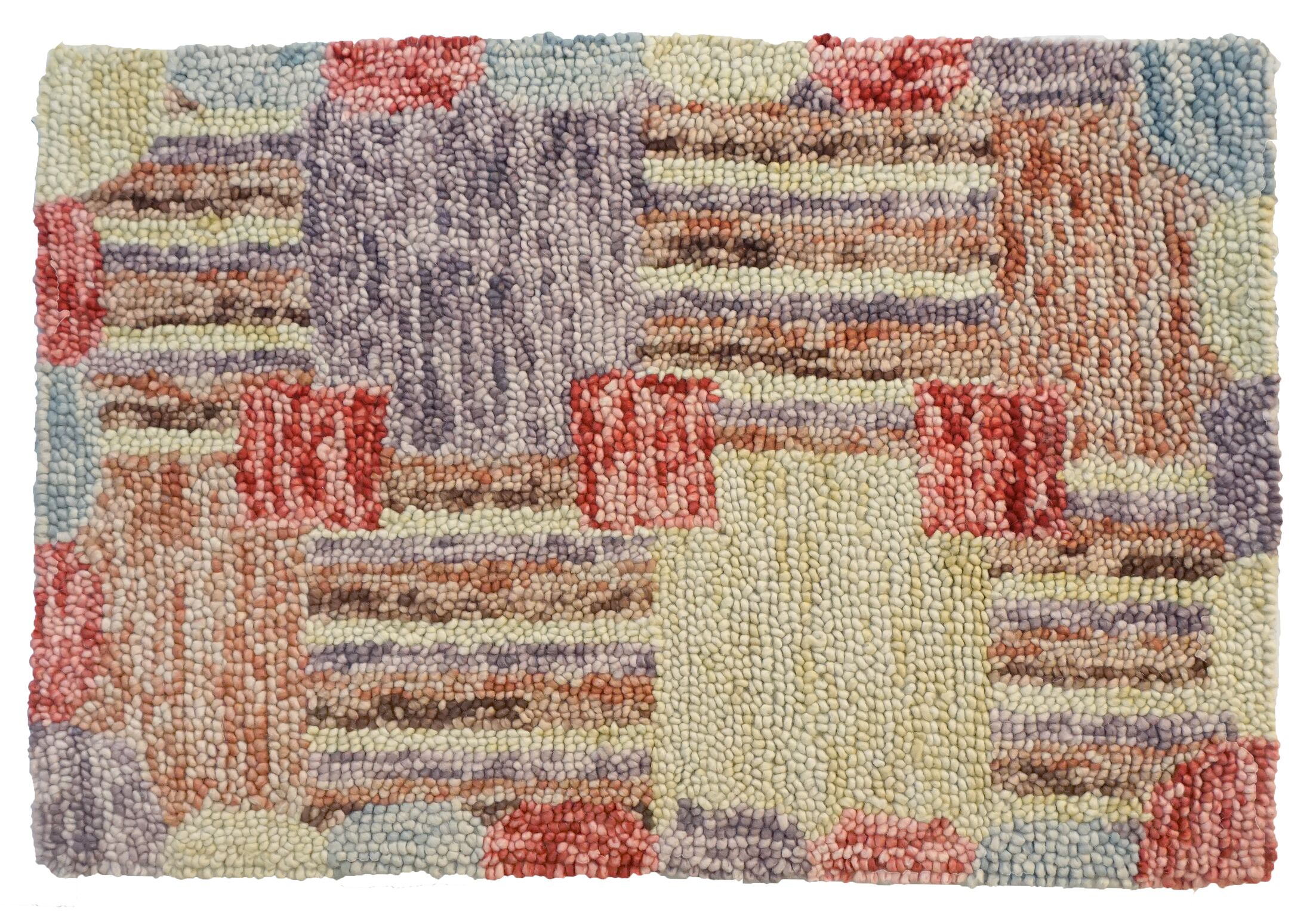 Sarepta Hand Tufted Wool Yellow/Red Area Rug Rug Size: 2' x 8'