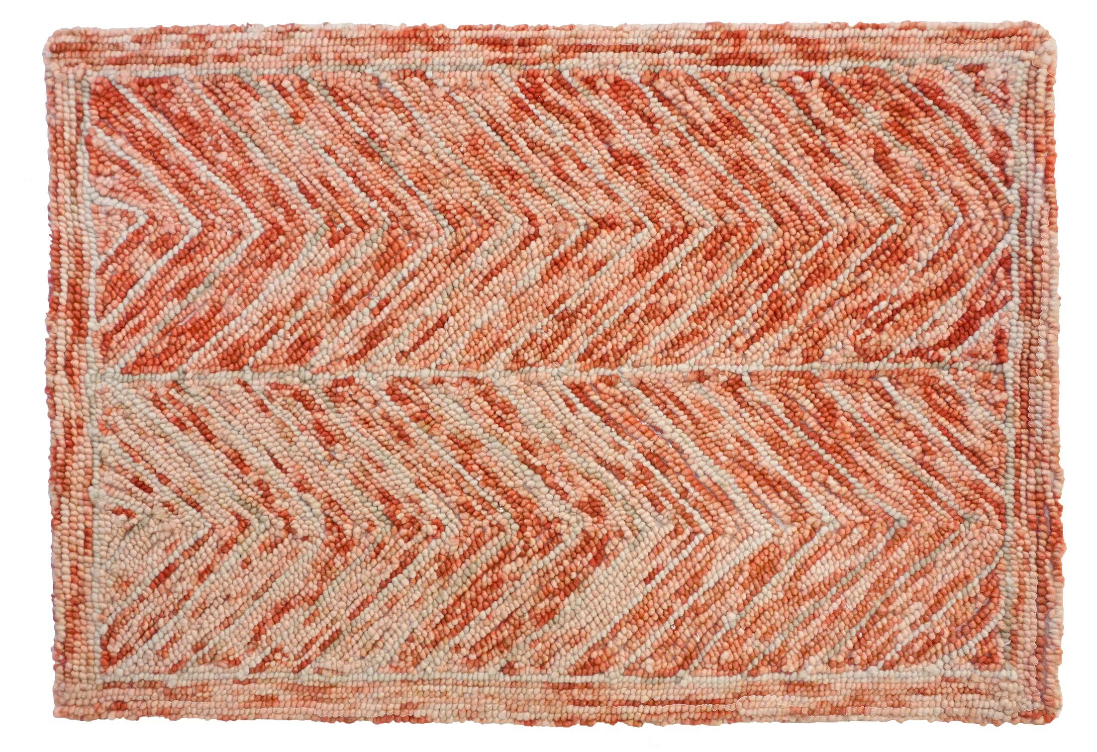 Sharadan Hand Tufted Wool Red Area Rug Rug Size: 3' x 5'
