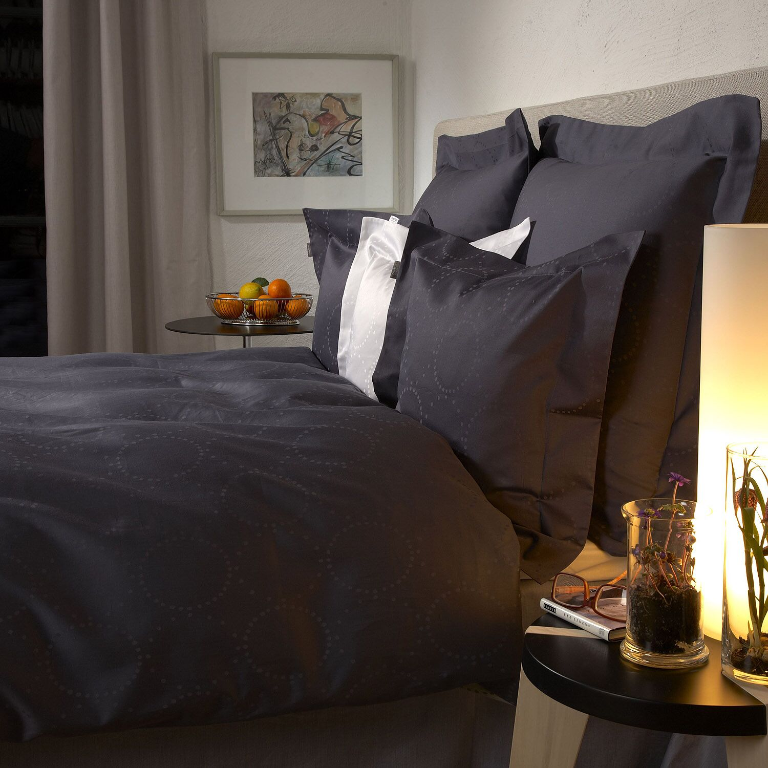 Marilyn 300 Thread Count 100% Cotton Fitted Sheet Size: King